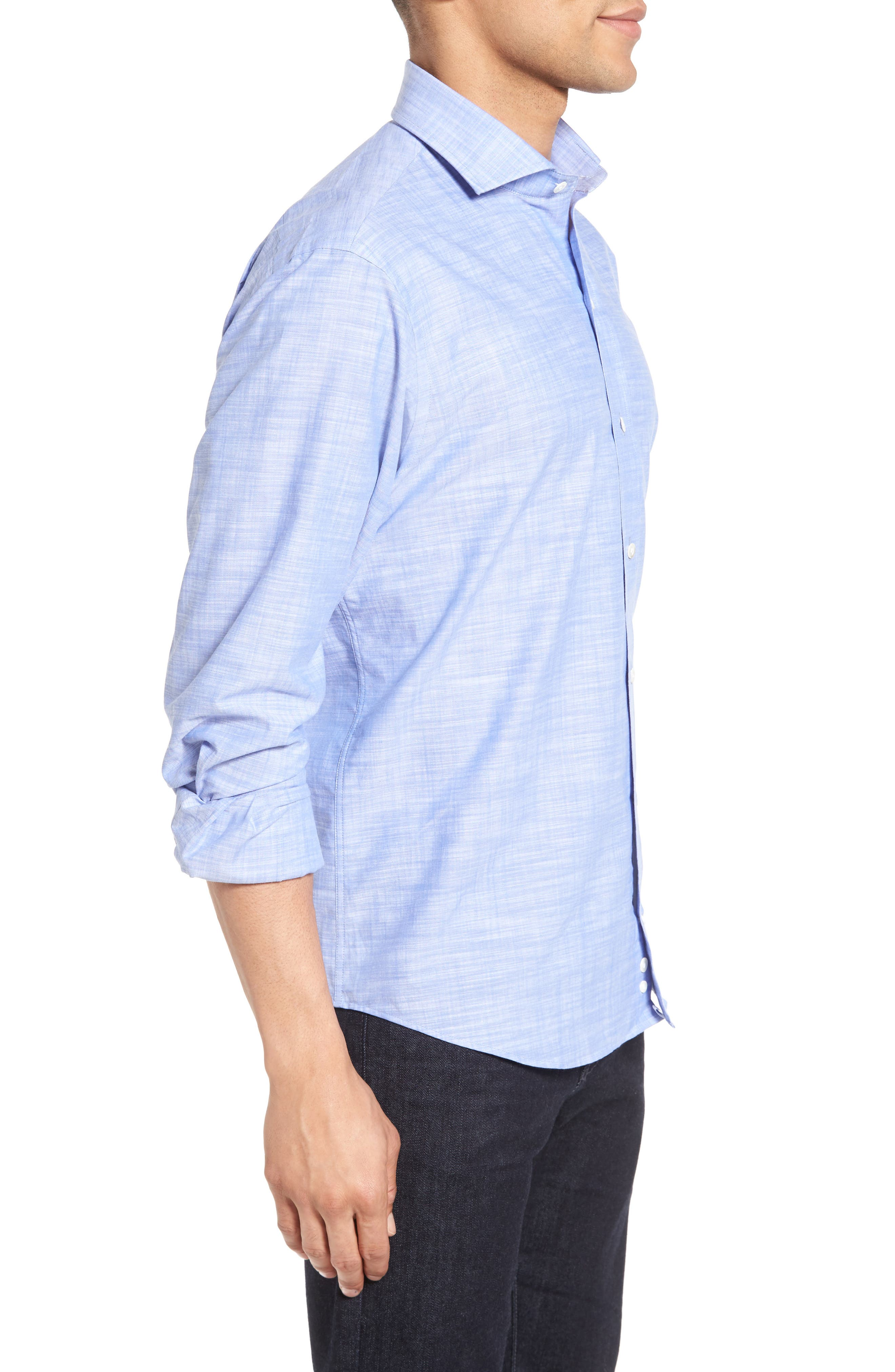 The McDaniel Classic Fit Chambray Sport Shirt,                             Alternate thumbnail 6, color,