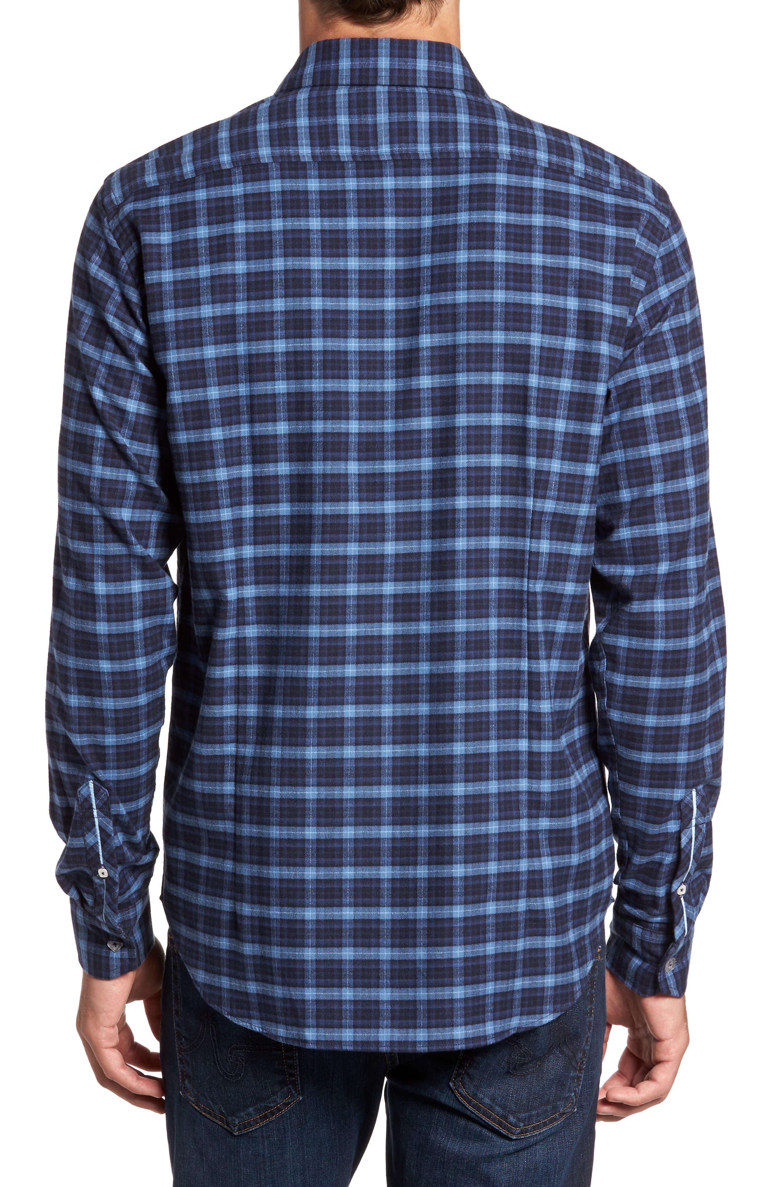 Regular Fit Plaid Sport Shirt,                             Alternate thumbnail 2, color,                             410