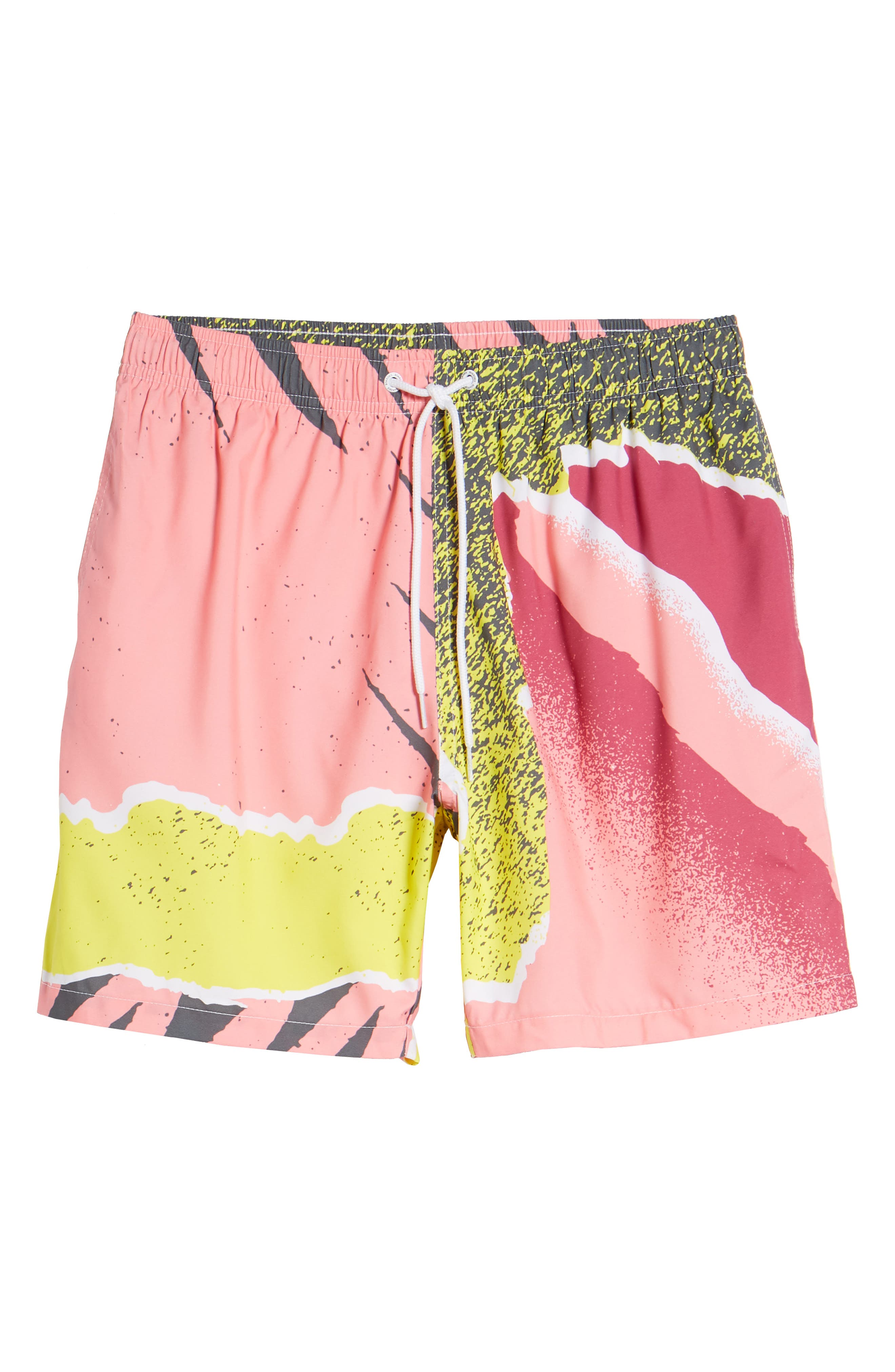Andre Retro Board Shorts,                             Alternate thumbnail 6, color,                             PINK
