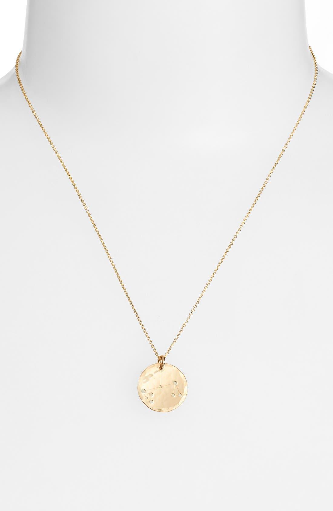 Ija 'Small Zodiac' 14k-Gold Fill Necklace,                             Alternate thumbnail 19, color,