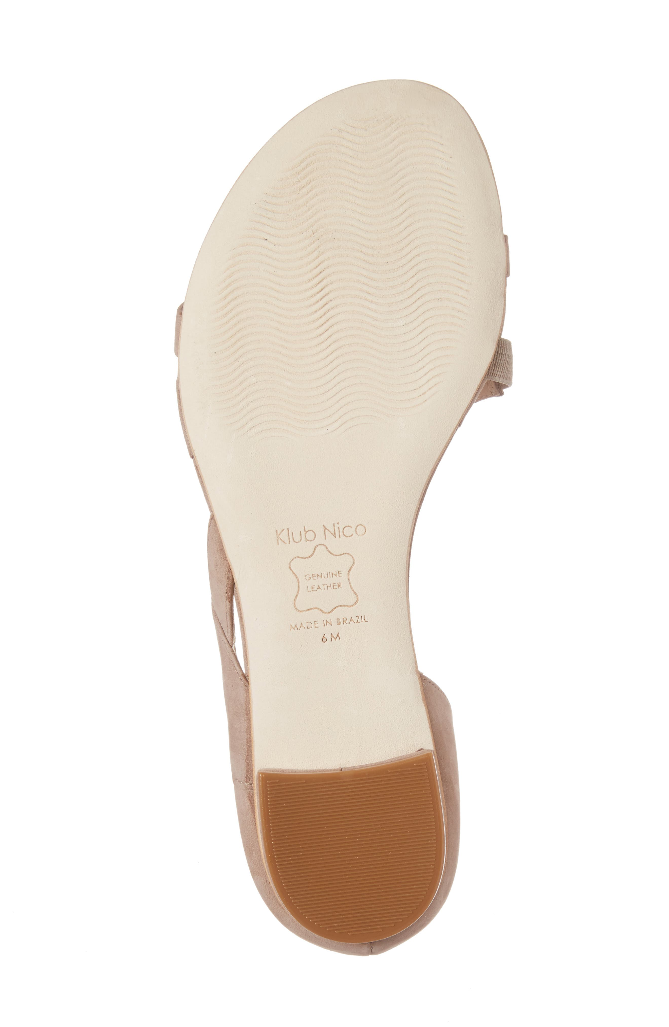 Jeanne Sandal,                             Alternate thumbnail 6, color,                             TAUPE LEATHER