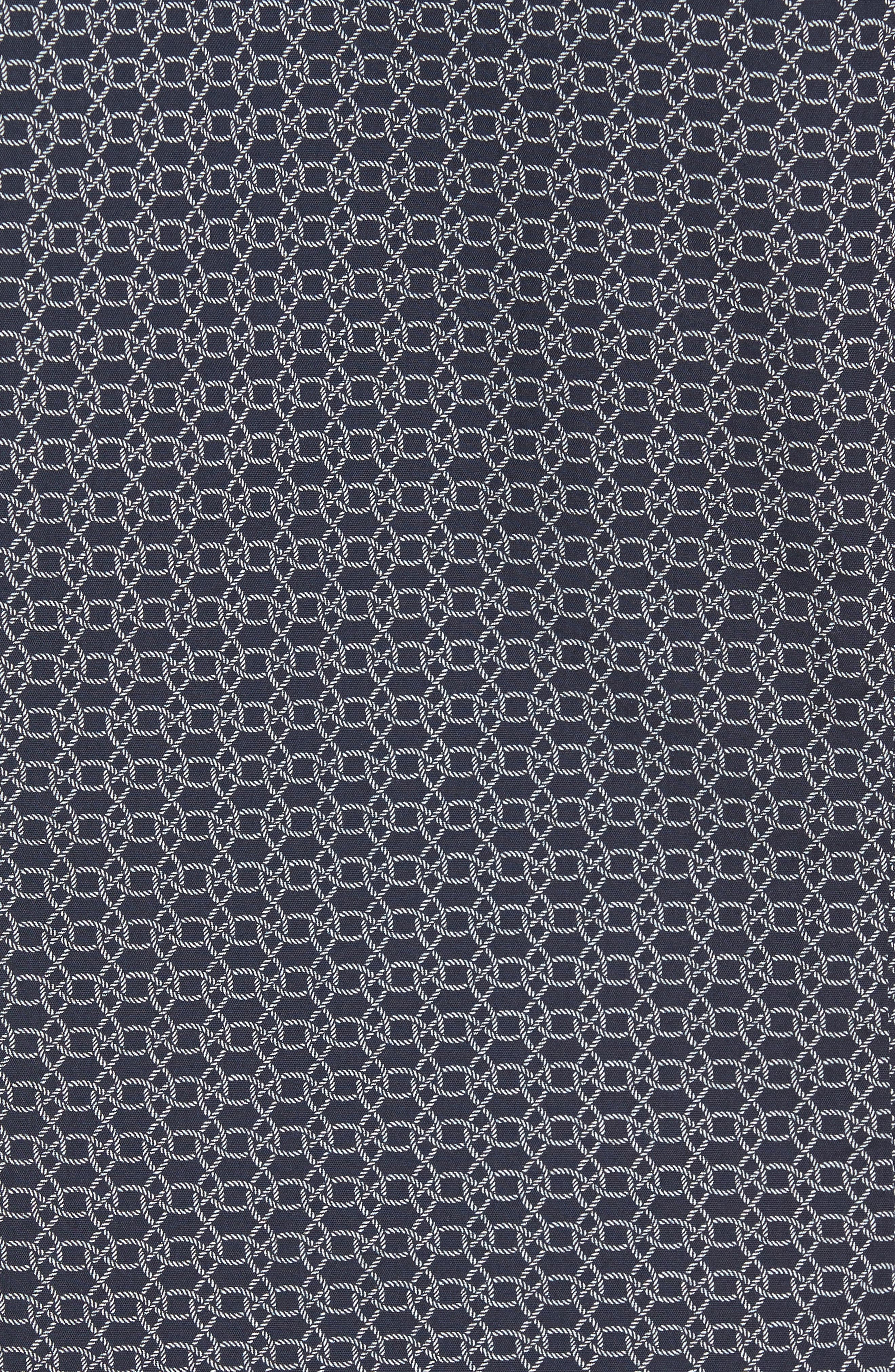 Robb Sharp Fit Knot Print Sport Shirt,                             Alternate thumbnail 5, color,                             410