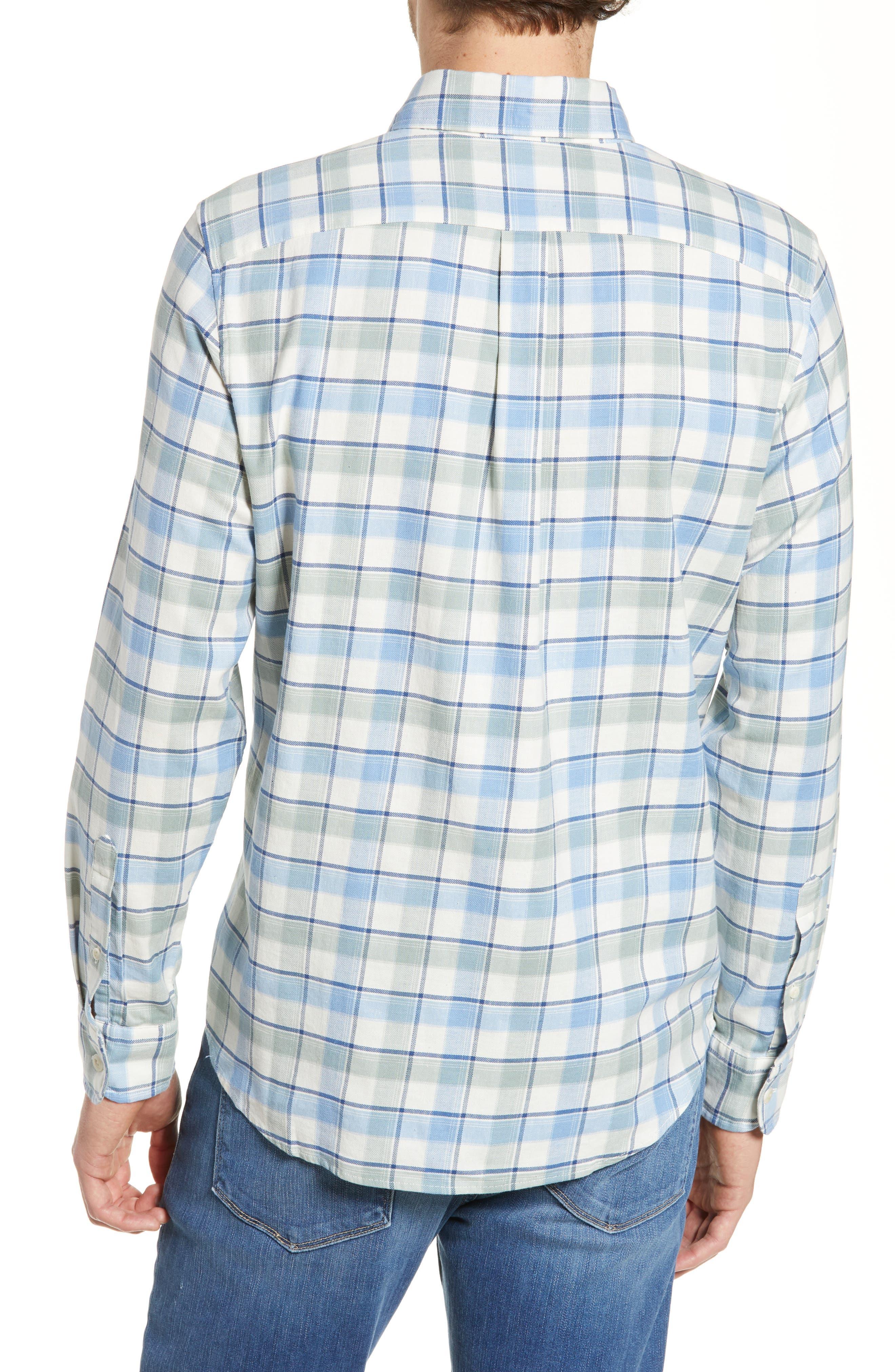 VINEYARD VINES,                             Bayside Slim Fit Plaid Sport Shirt,                             Alternate thumbnail 3, color,                             LIGHT SAGE