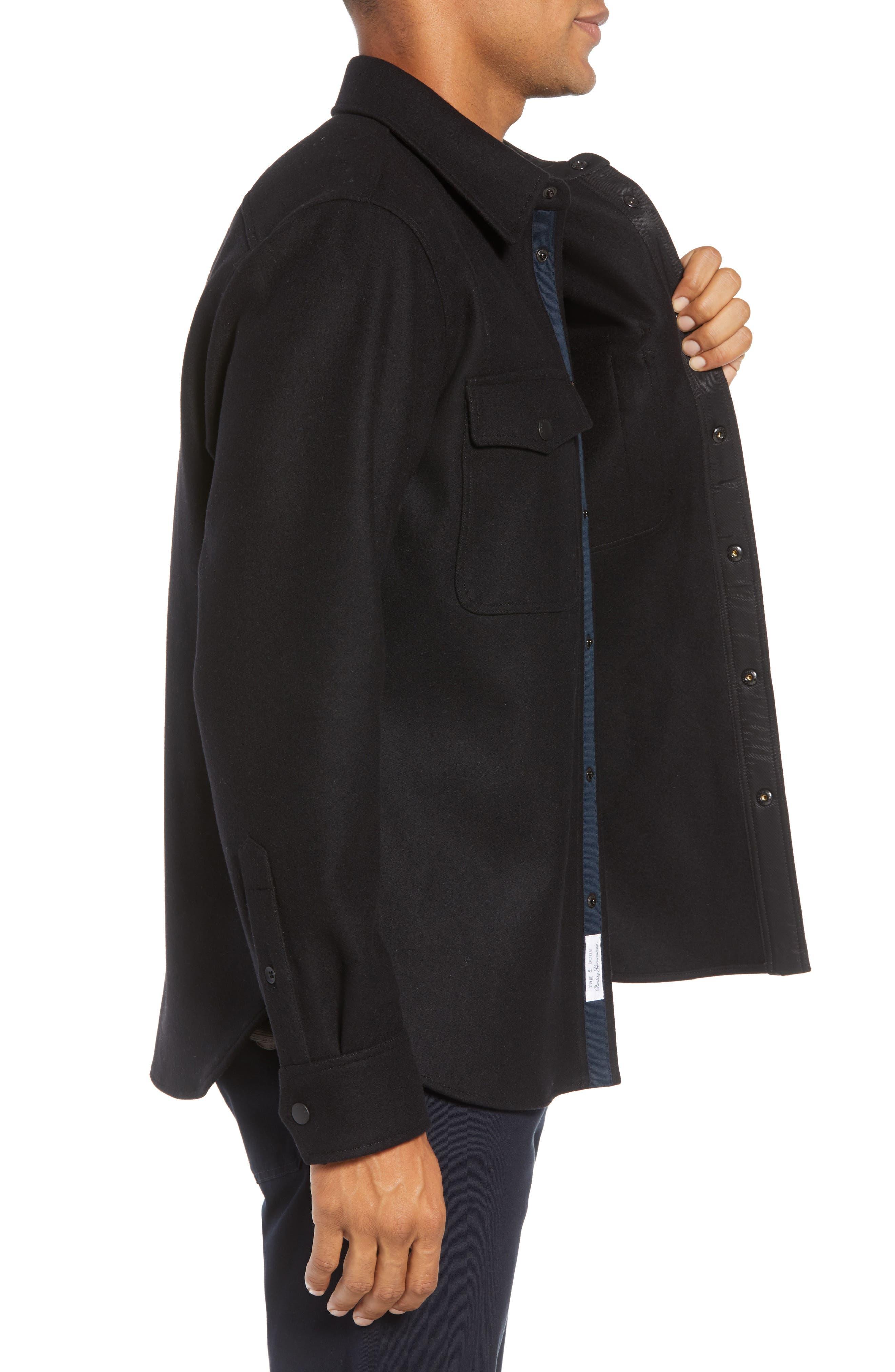 Jack Regular Fit Shirt Jacket,                             Alternate thumbnail 3, color,                             001