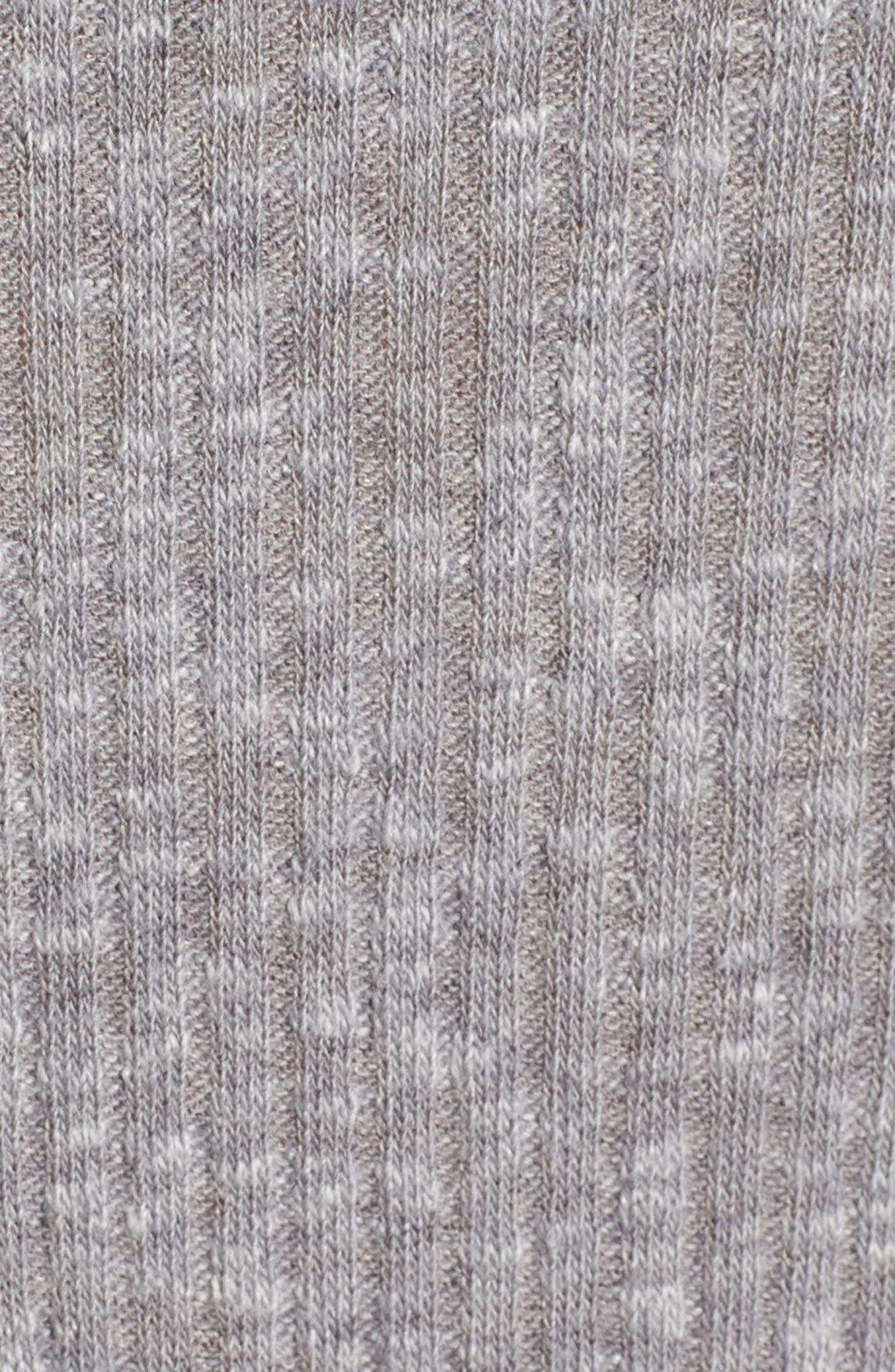Ribbed Cardigan,                             Alternate thumbnail 5, color,                             GREY CLOUDY HEATHER