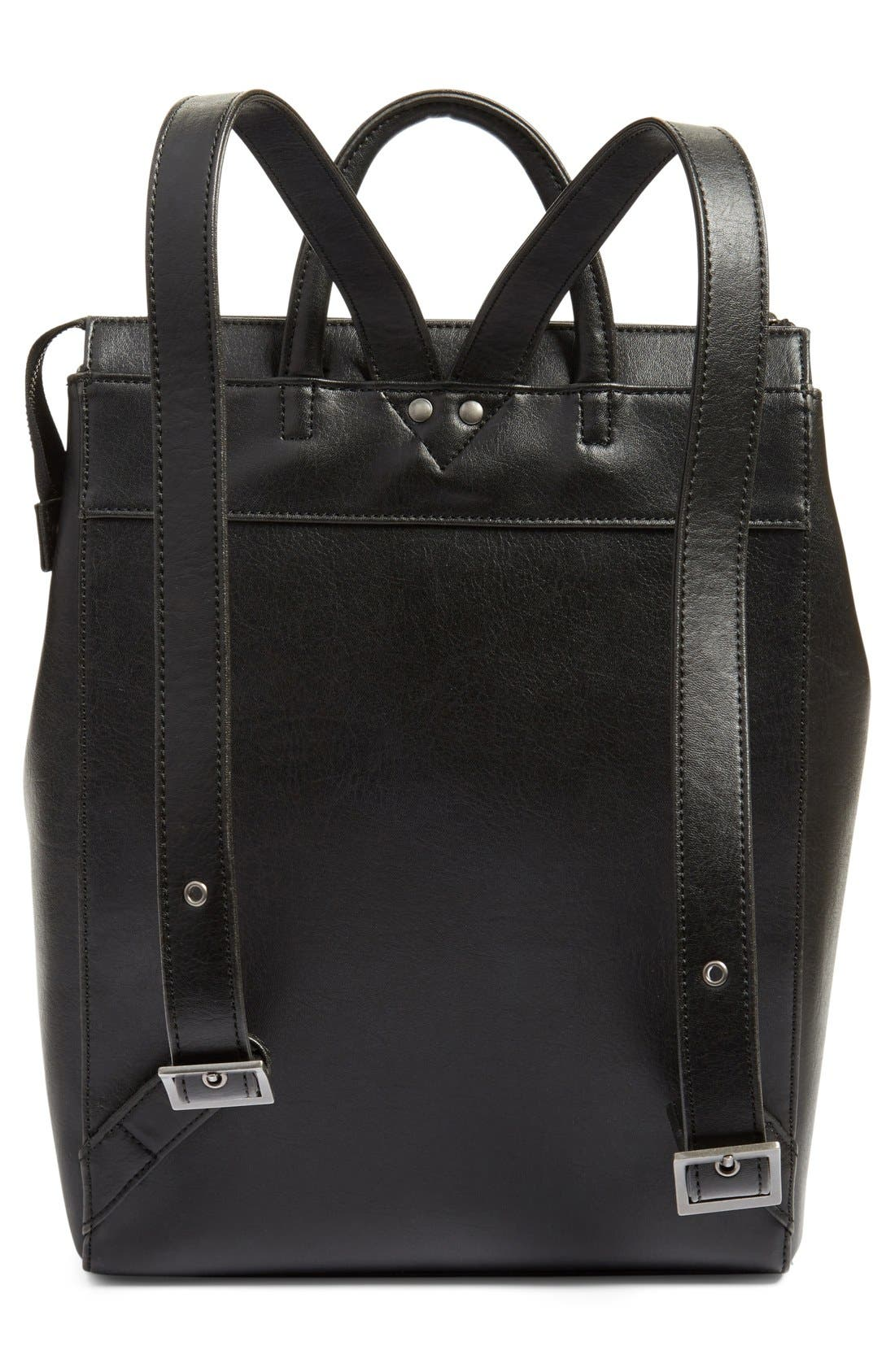 'Katherine' Faux Leather Backpack,                             Alternate thumbnail 9, color,