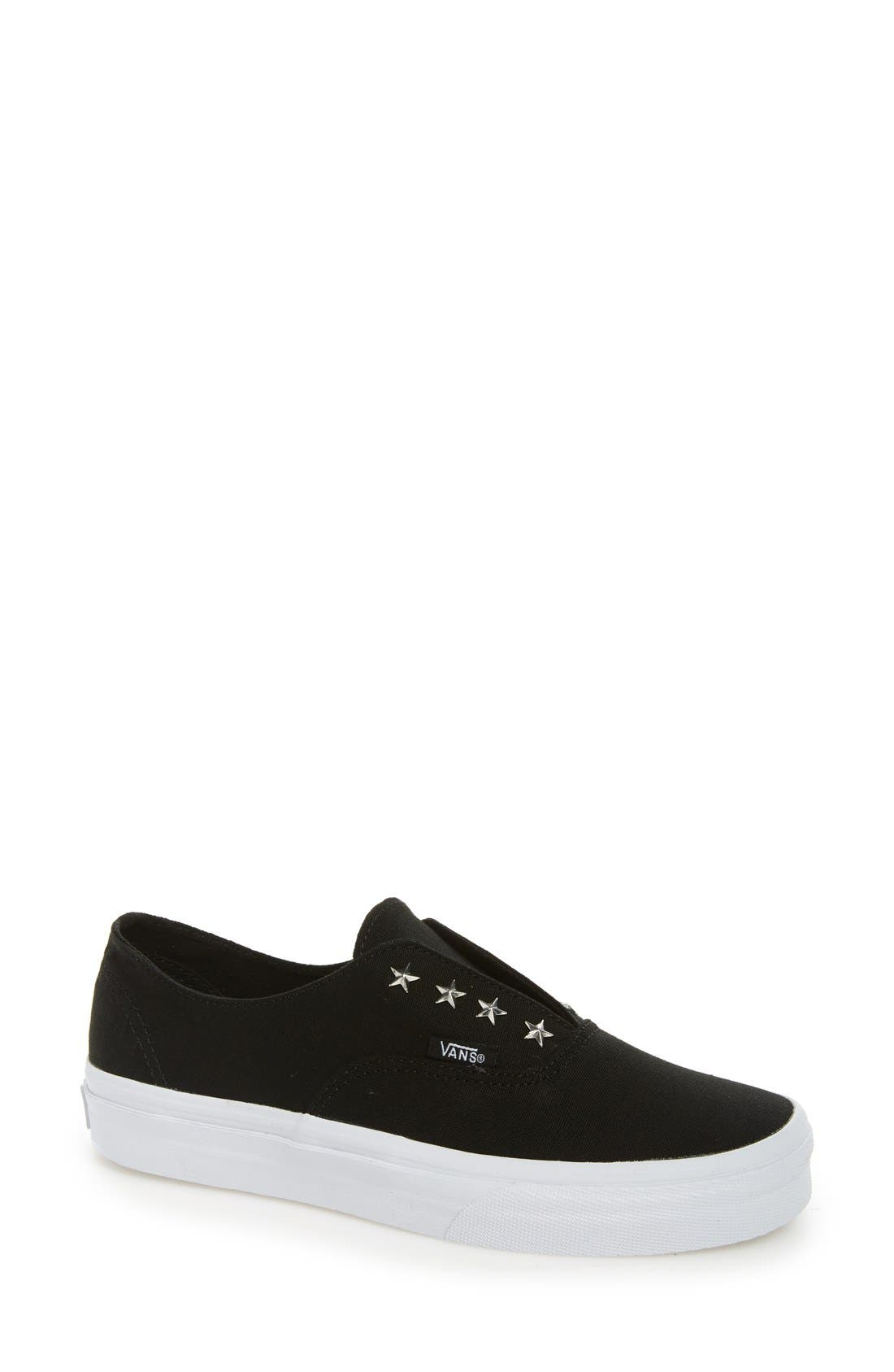 'Authentic' Studded Slip-On Sneaker,                         Main,                         color, 001