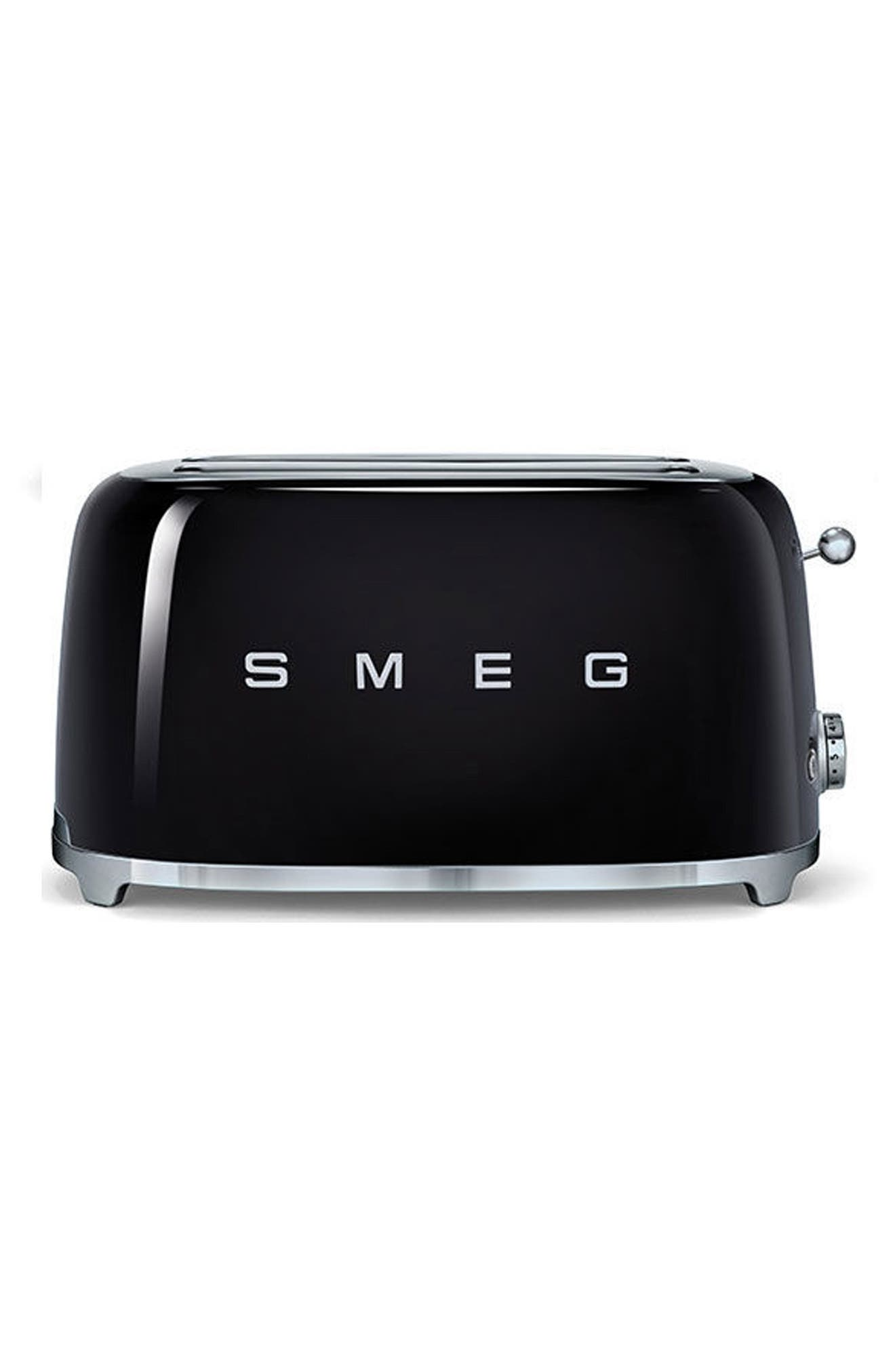 50s Retro Style Four-Slice Toaster,                             Main thumbnail 1, color,                             BLACK