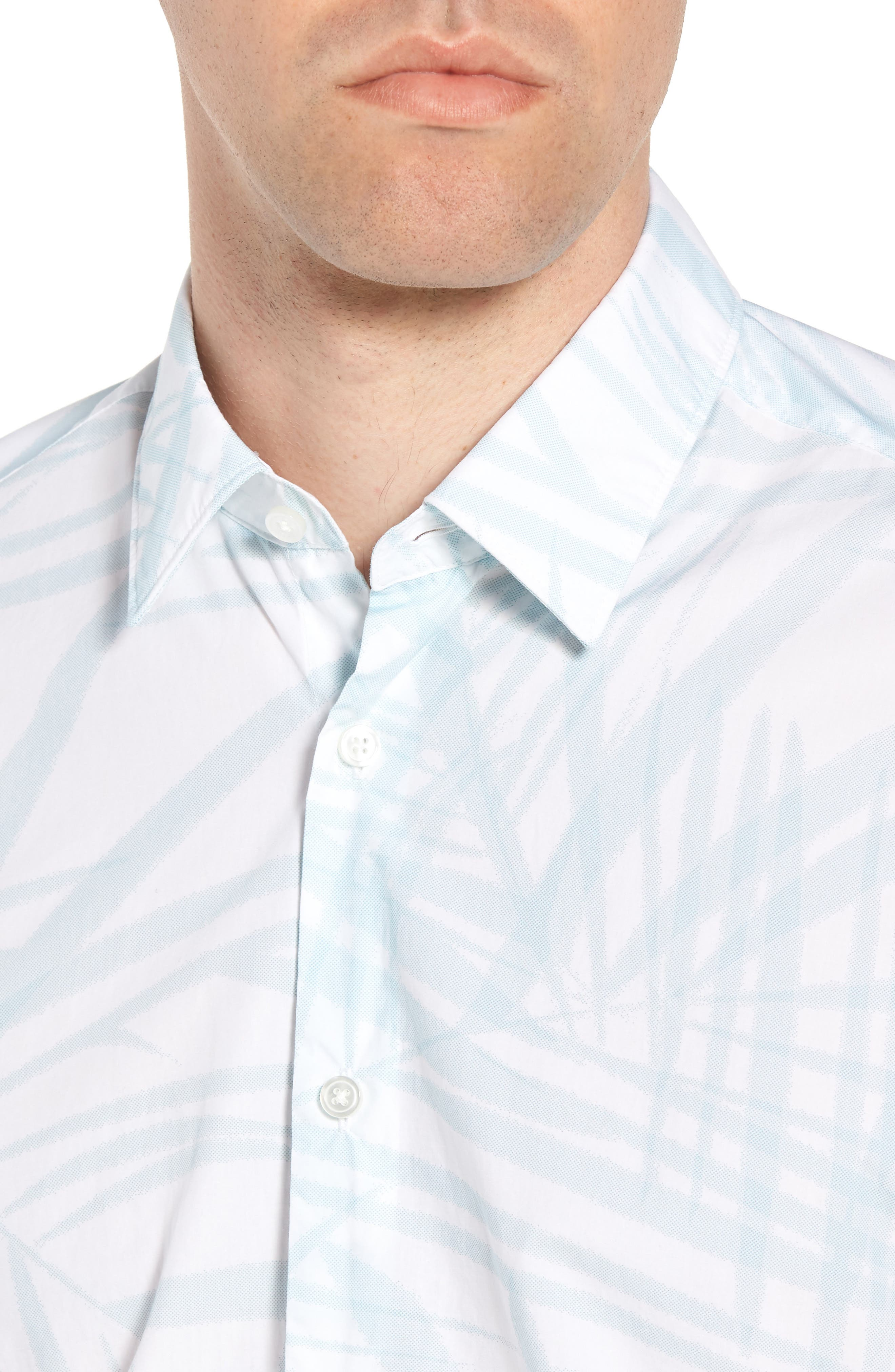 Luka Regular Fit Short Sleeve Sport Shirt,                             Alternate thumbnail 4, color,                             456
