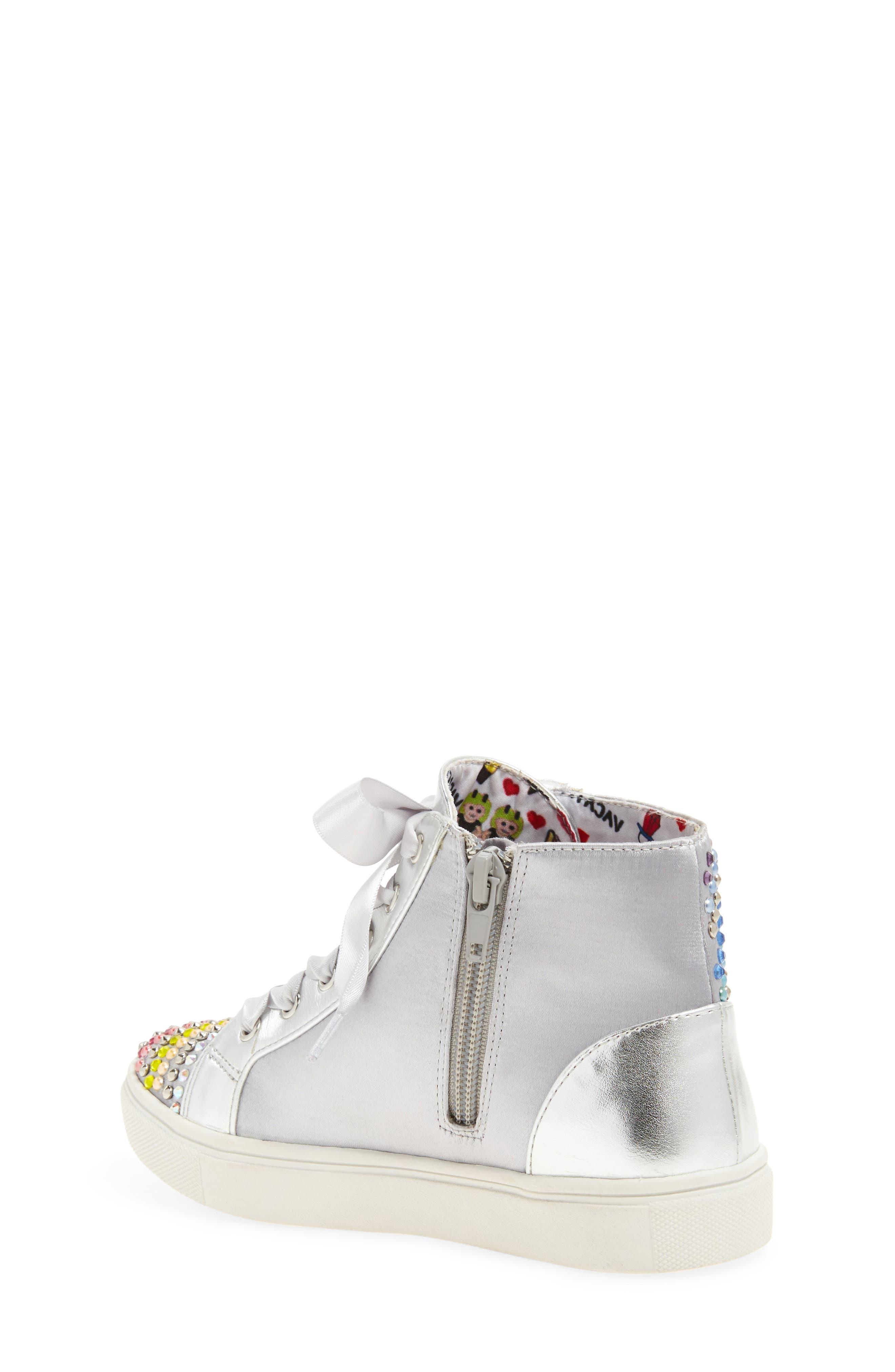 Rainey Rainbow Studded High Top Sneaker,                             Alternate thumbnail 2, color,                             040