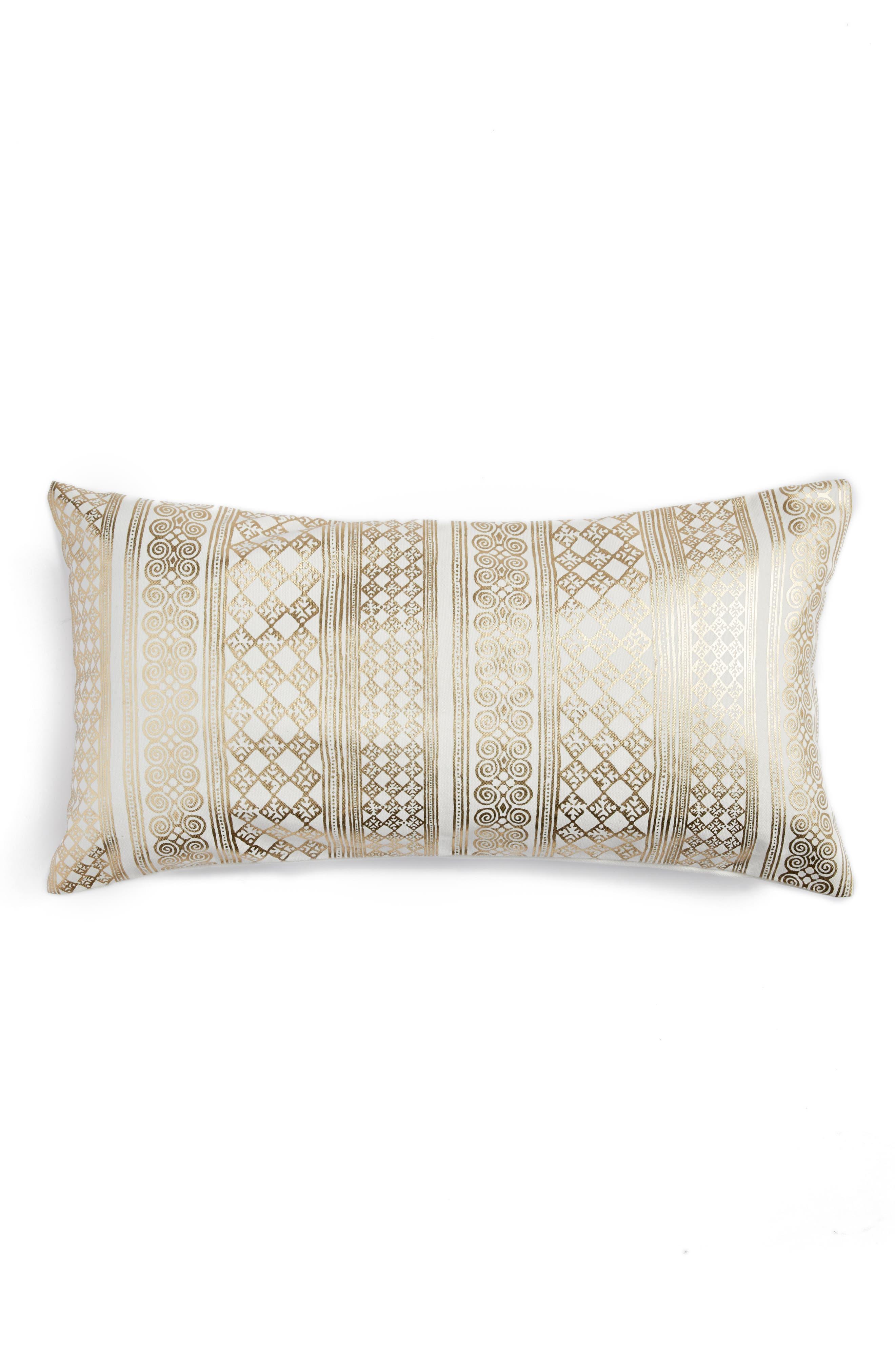 Foil Screenprint Accent Pillow,                         Main,                         color, 710