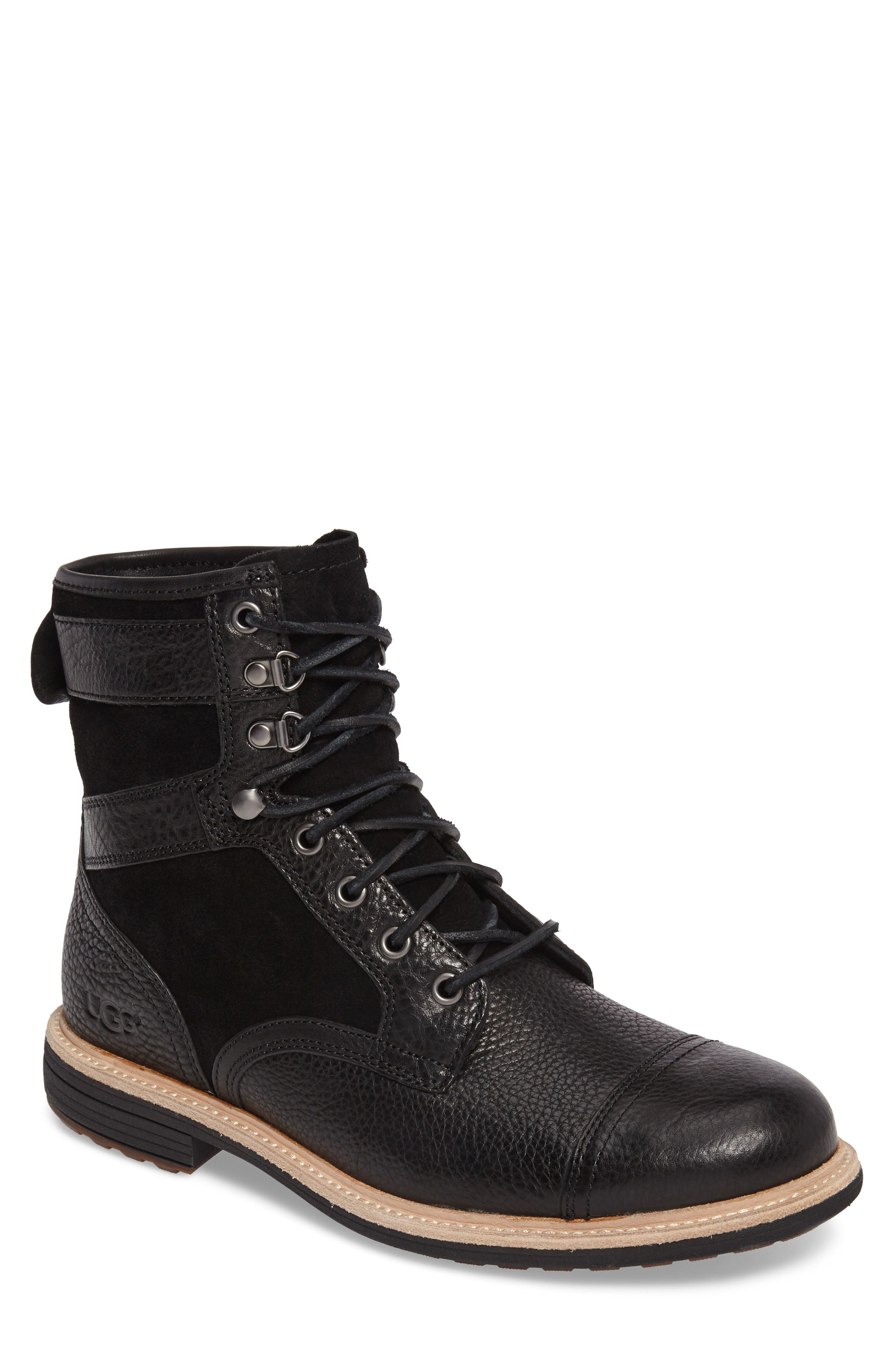 UGG<SUP>®</SUP> Magnusson Cap Toe Boot, Main, color, 001