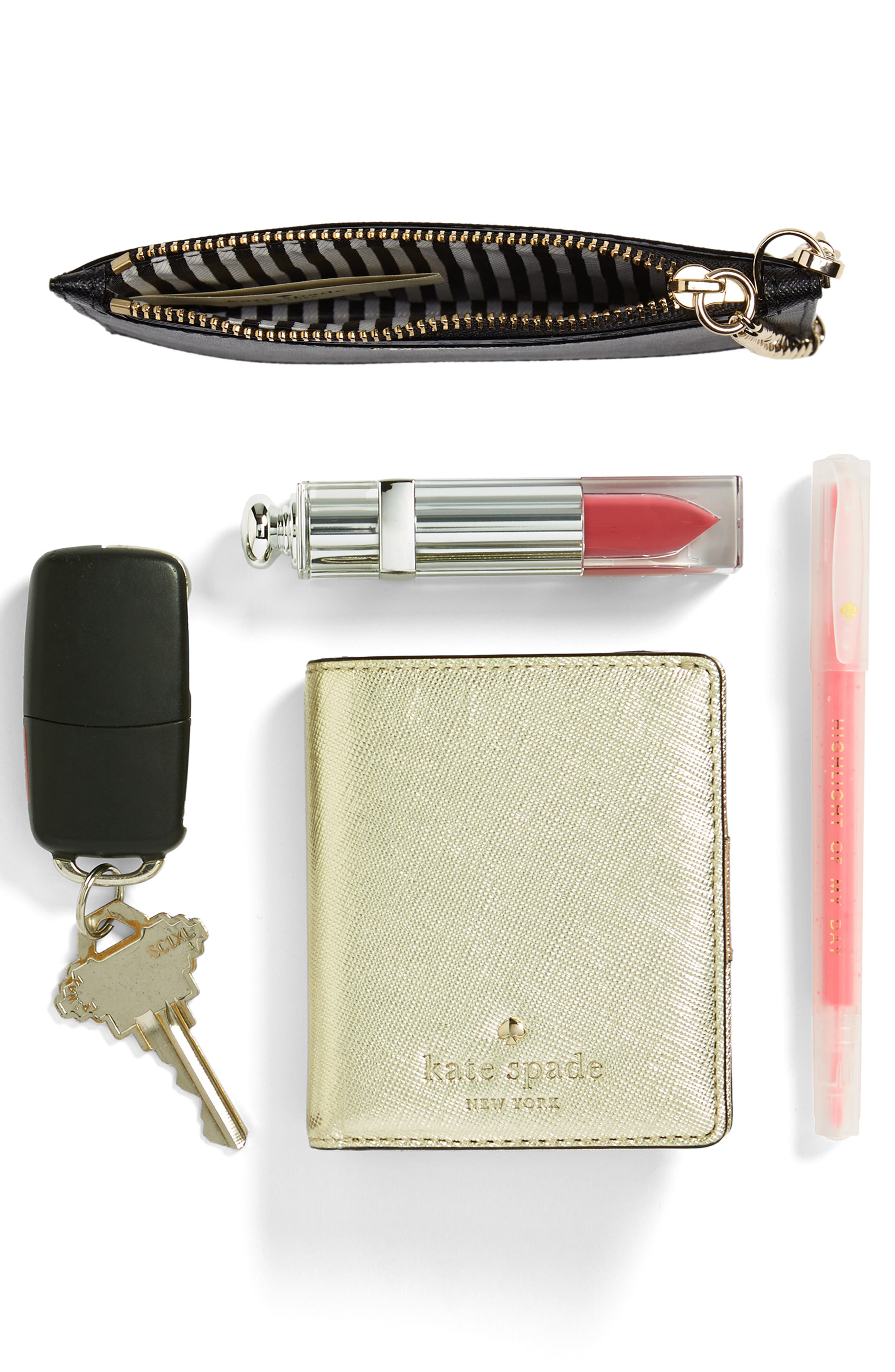 cameron street caroline leather zip pouch,                             Alternate thumbnail 7, color,                             001