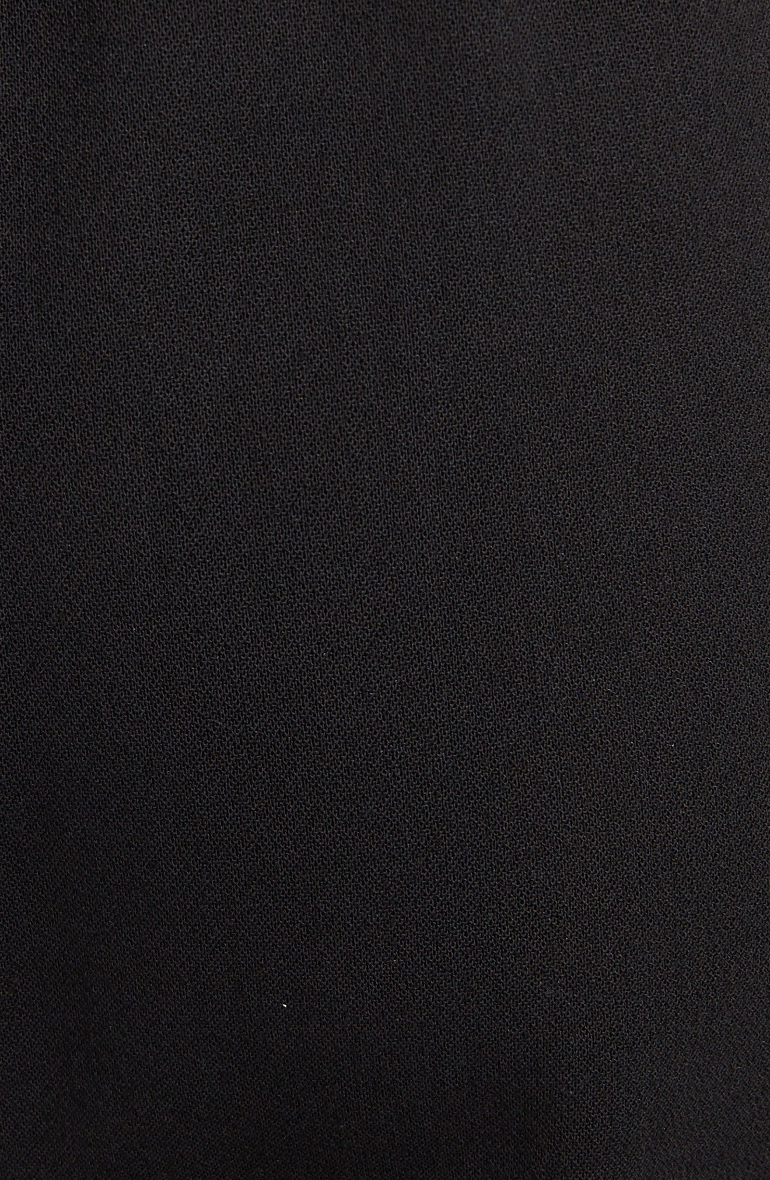 Contrast Stripe Track Pants,                             Alternate thumbnail 5, color,                             BLACK
