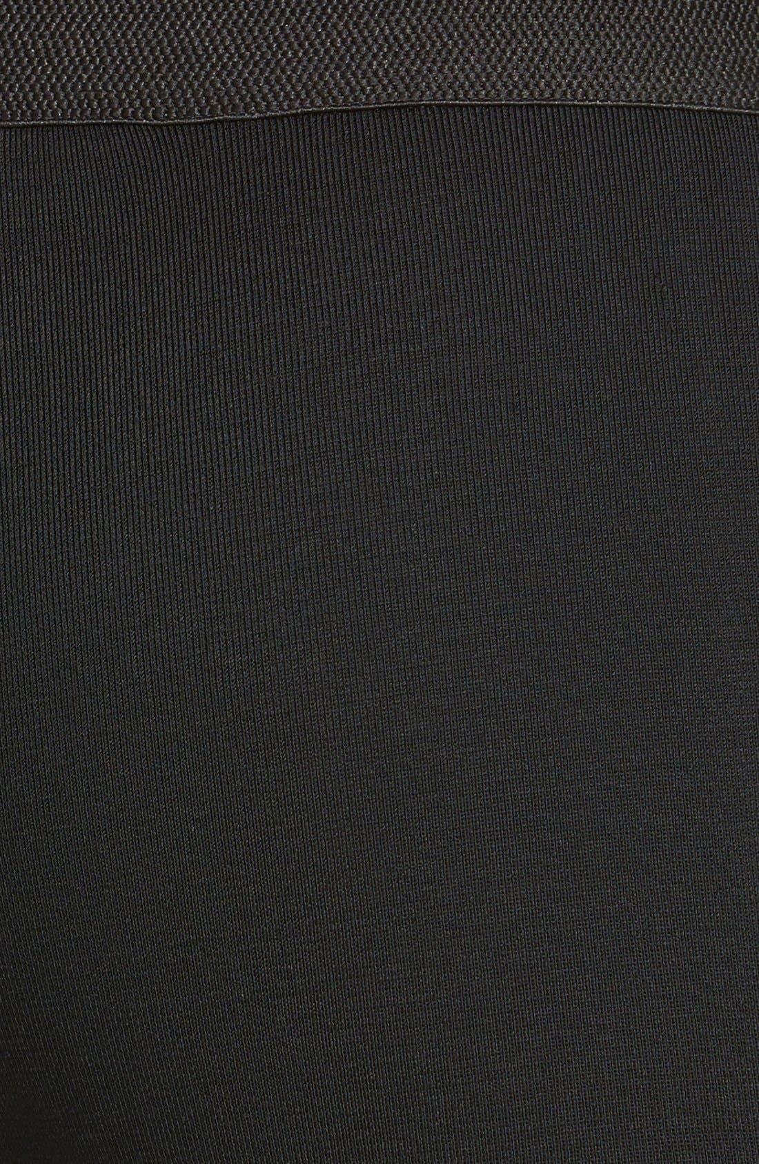 Slim Knit Pants,                             Alternate thumbnail 3, color,                             BLACK