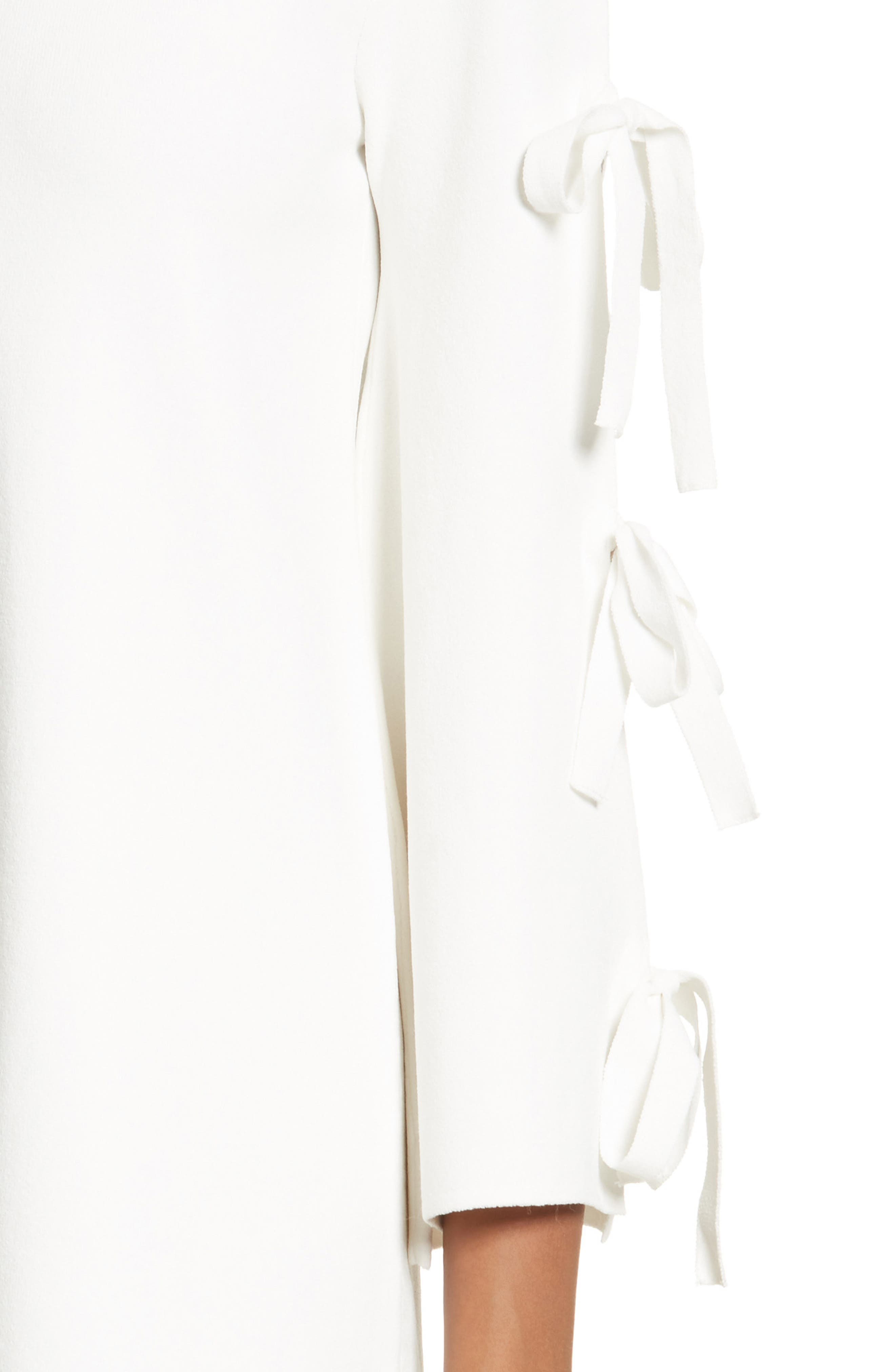 Tied Bell Sleeve Shift Dress,                             Alternate thumbnail 4, color,                             150