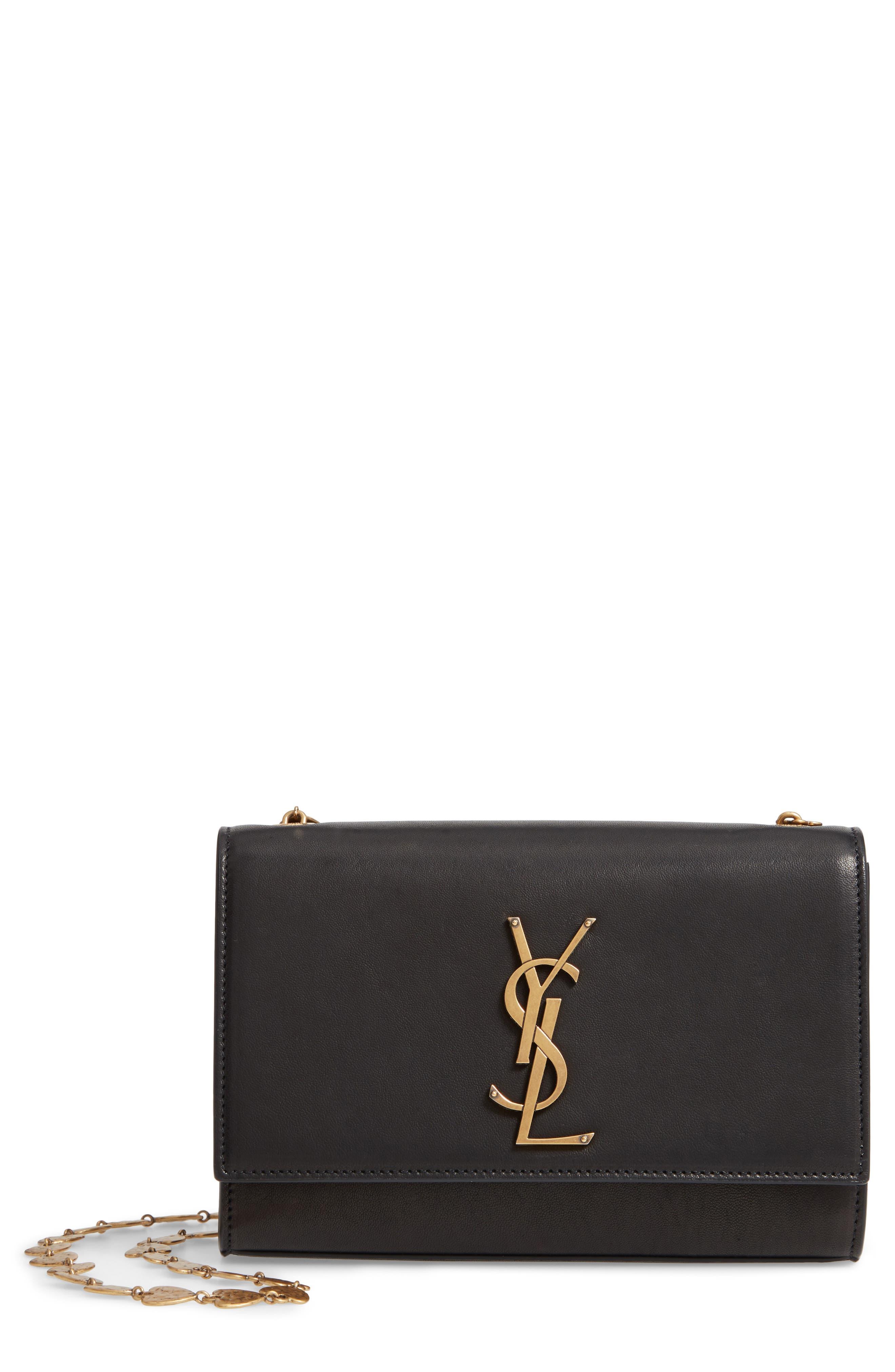Small Kate Leather Shoulder Bag by Saint Laurent