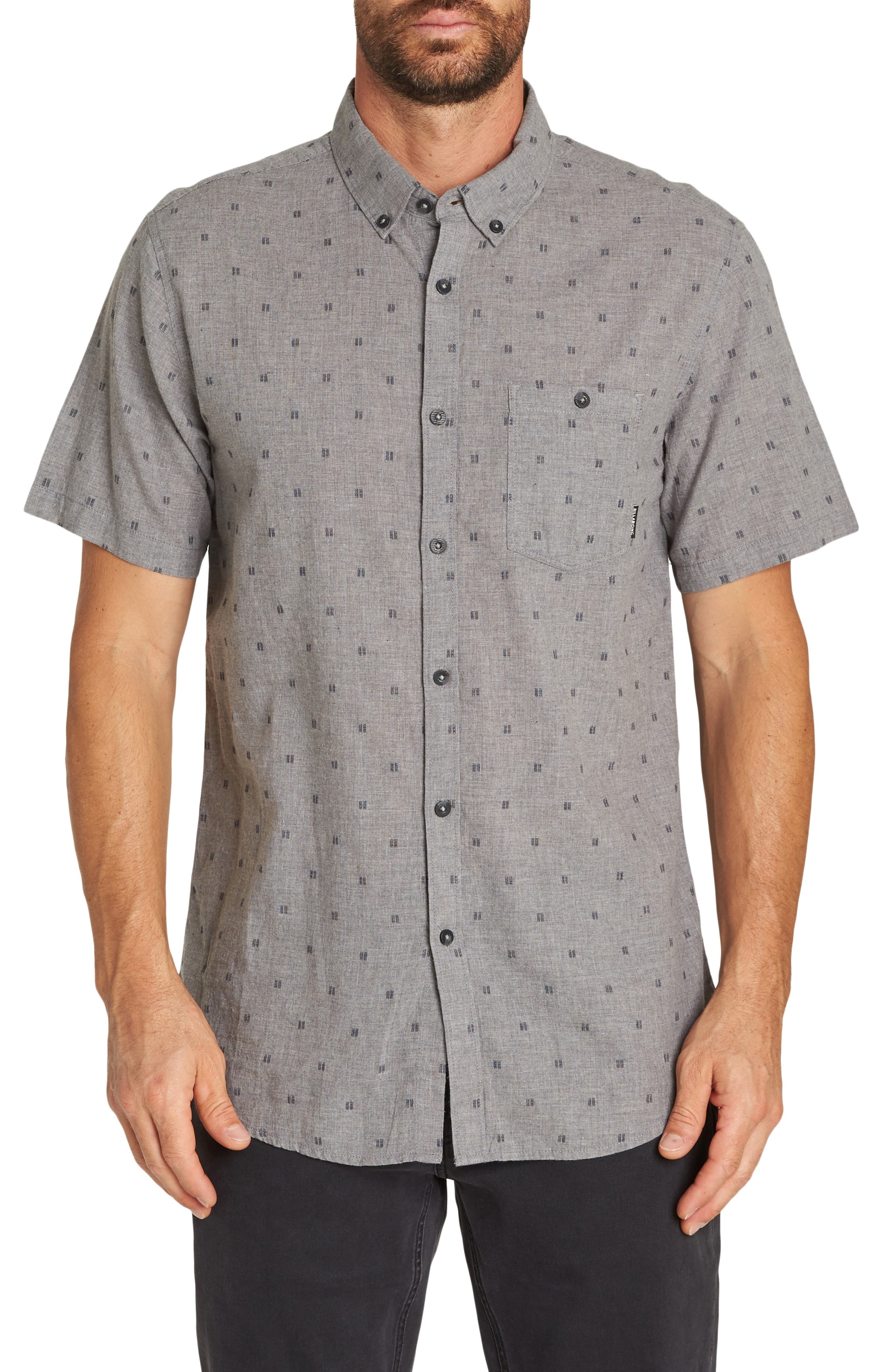 All Day Jacquard Shirt,                             Main thumbnail 1, color,                             PEWTER HEATHER