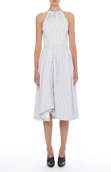 Stripe Shirting Apron Day Dress, video thumbnail