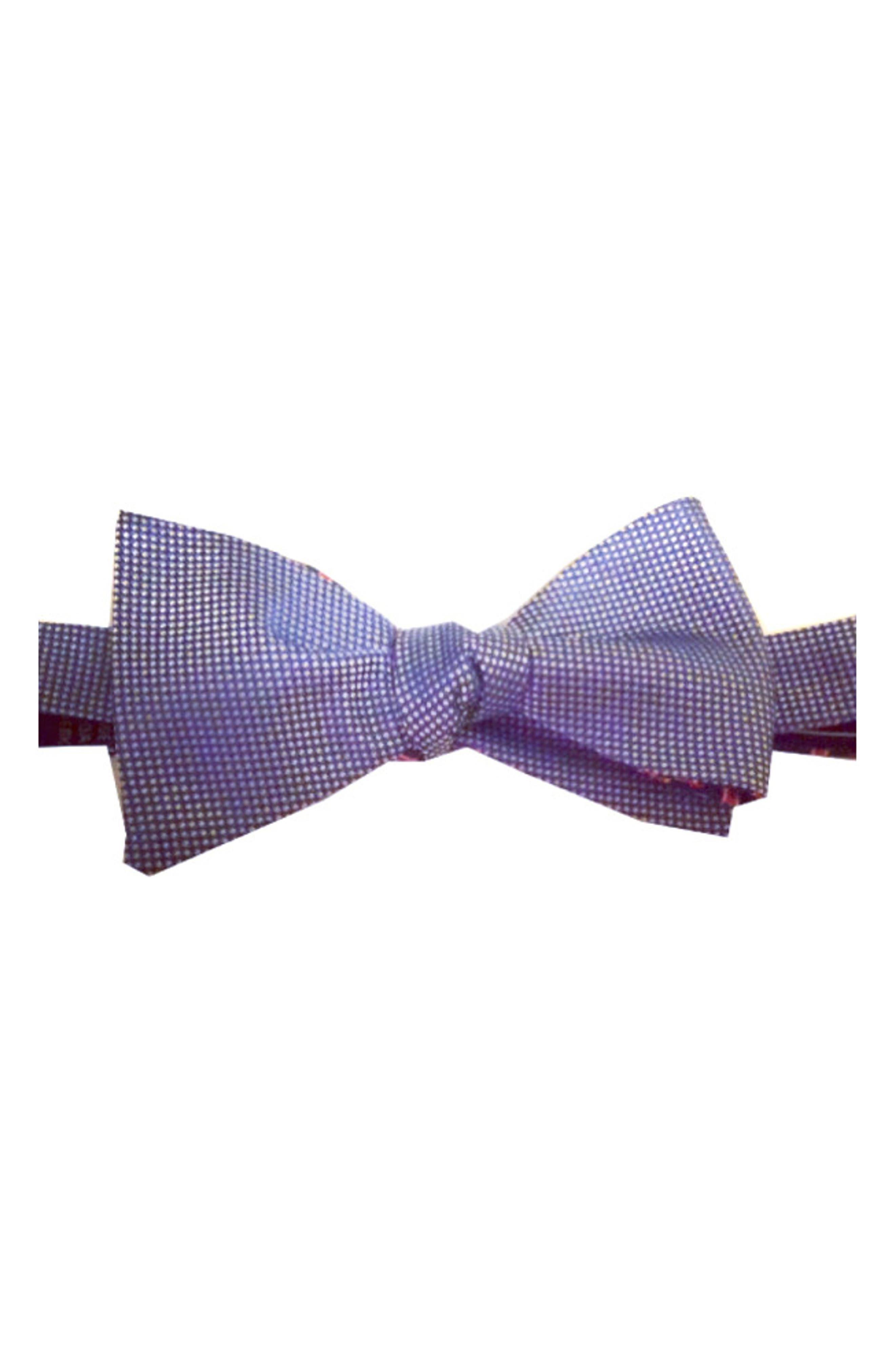 Mullet Reversible Silk Bow Tie,                             Main thumbnail 1, color,                             BLUE