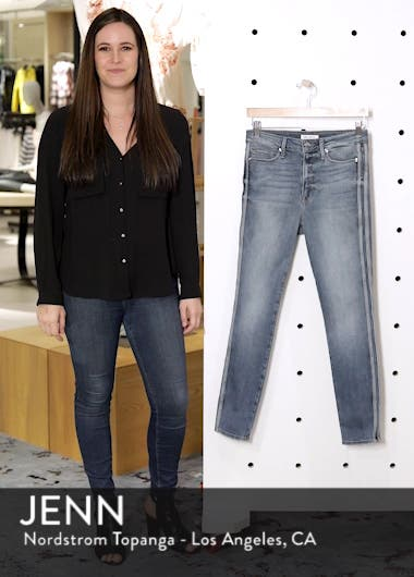 Good Waist Athletic Stripe High Waist Ankle Straight Leg Jeans, sales video thumbnail