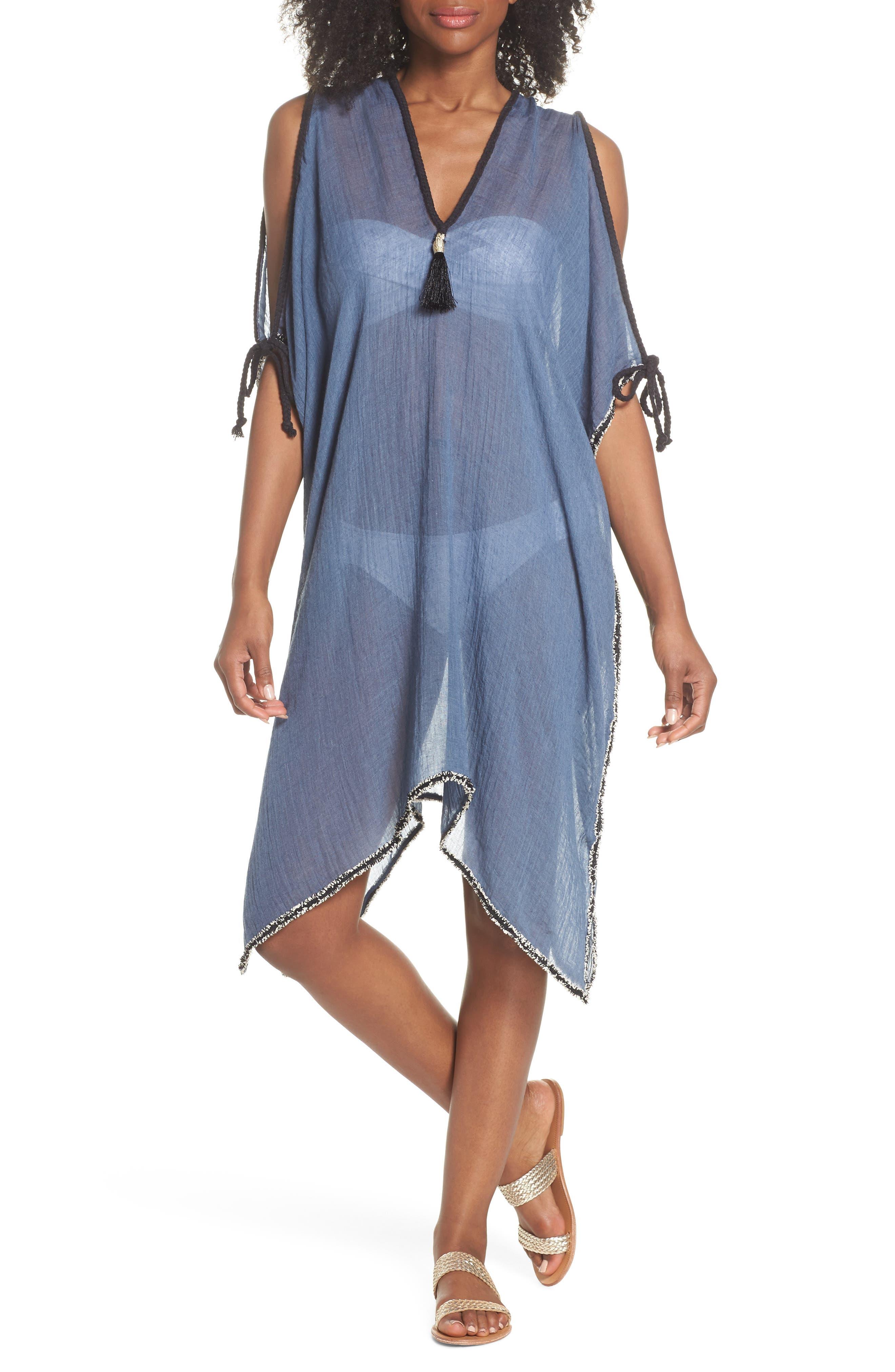 Cold Shoulder Cover-Up Dress,                             Main thumbnail 1, color,                             414