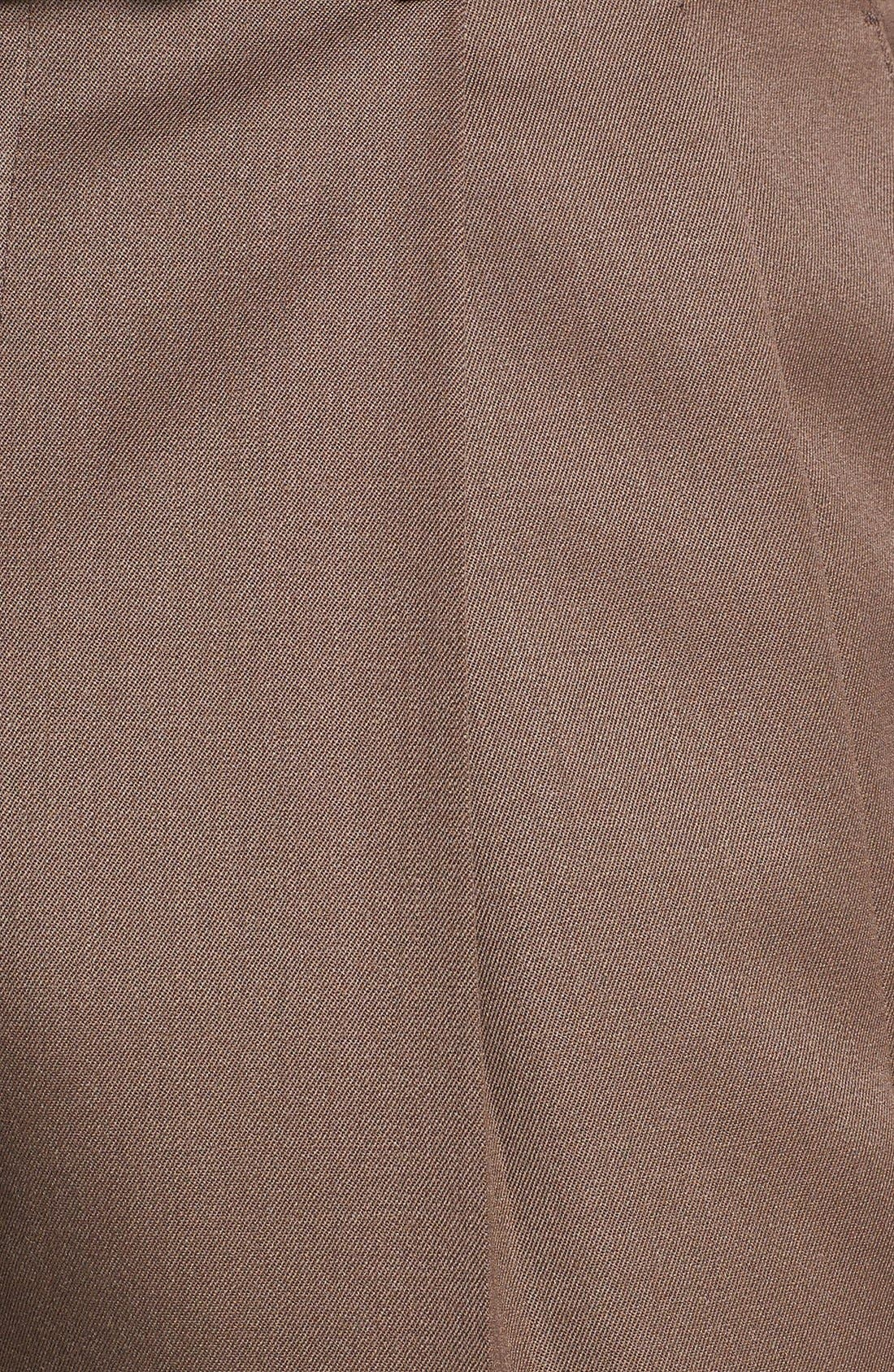 Pleated Super 100s Worsted Wool Trousers,                             Alternate thumbnail 19, color,