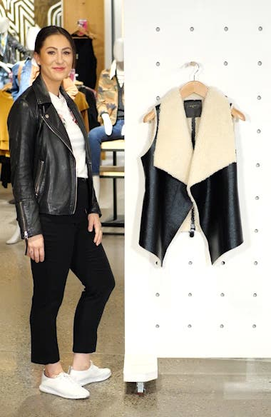 Fly Away Faux Shearling Back Zip Vest, sales video thumbnail