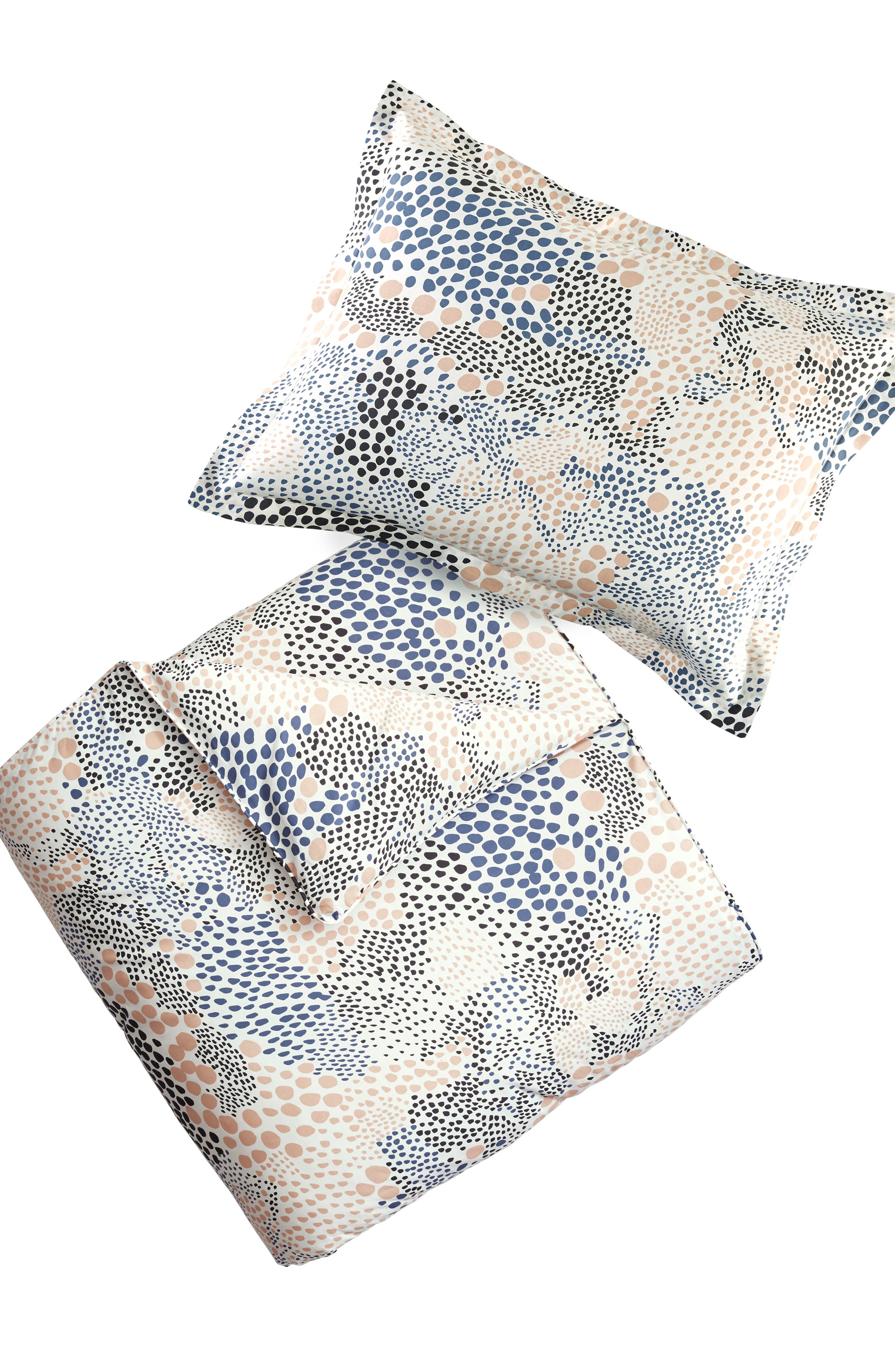 Pebble Noir Duvet Cover & Sham Set,                             Main thumbnail 1, color,                             142