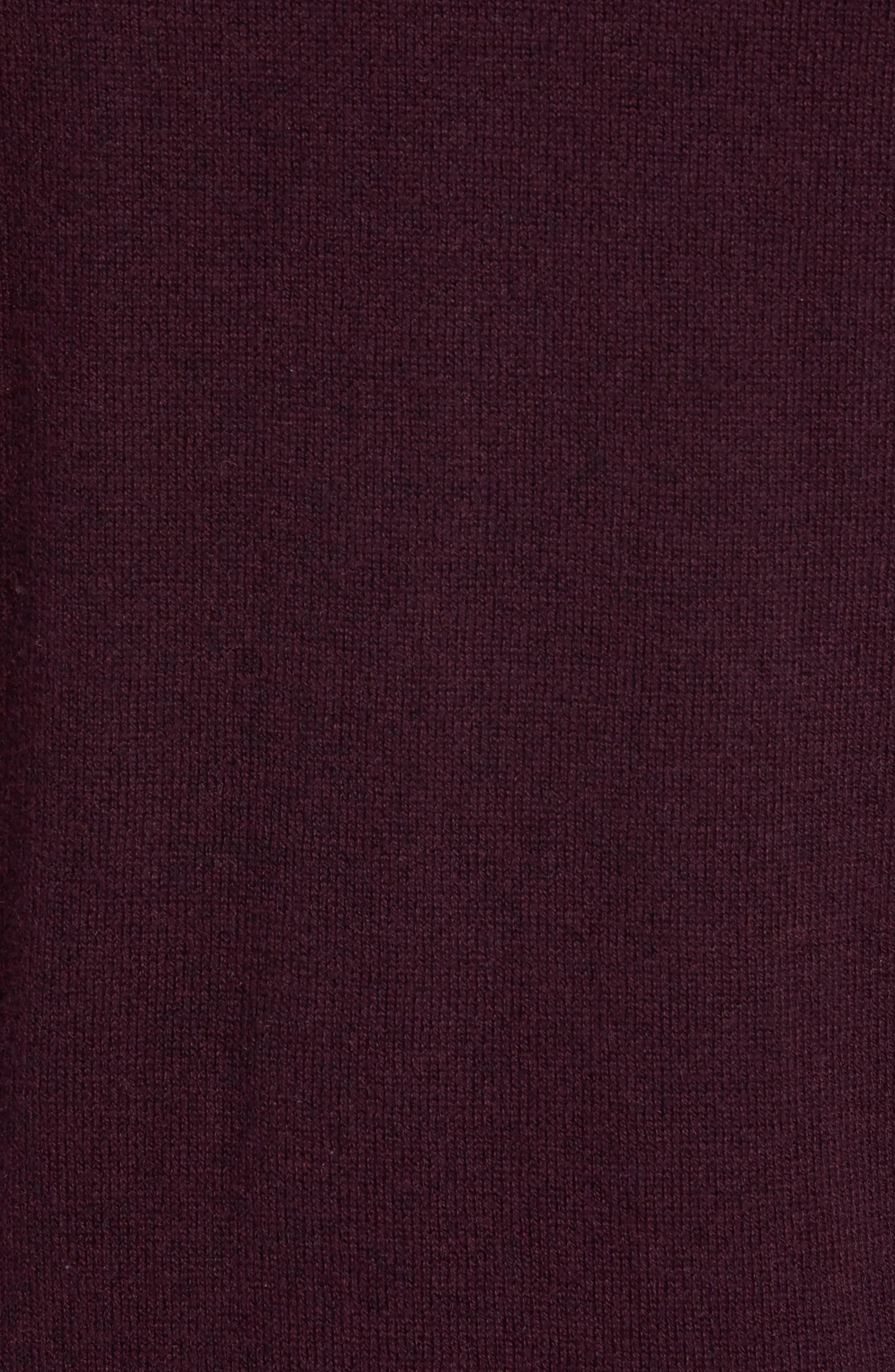 Cotton & Cashmere Quarter Zip Sweater,                             Alternate thumbnail 5, color,                             600