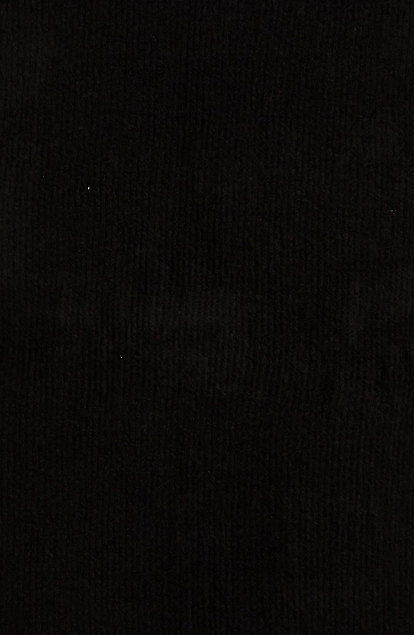 Jaden Rib Knit Blanket Scarf,                             Alternate thumbnail 4, color,                             001