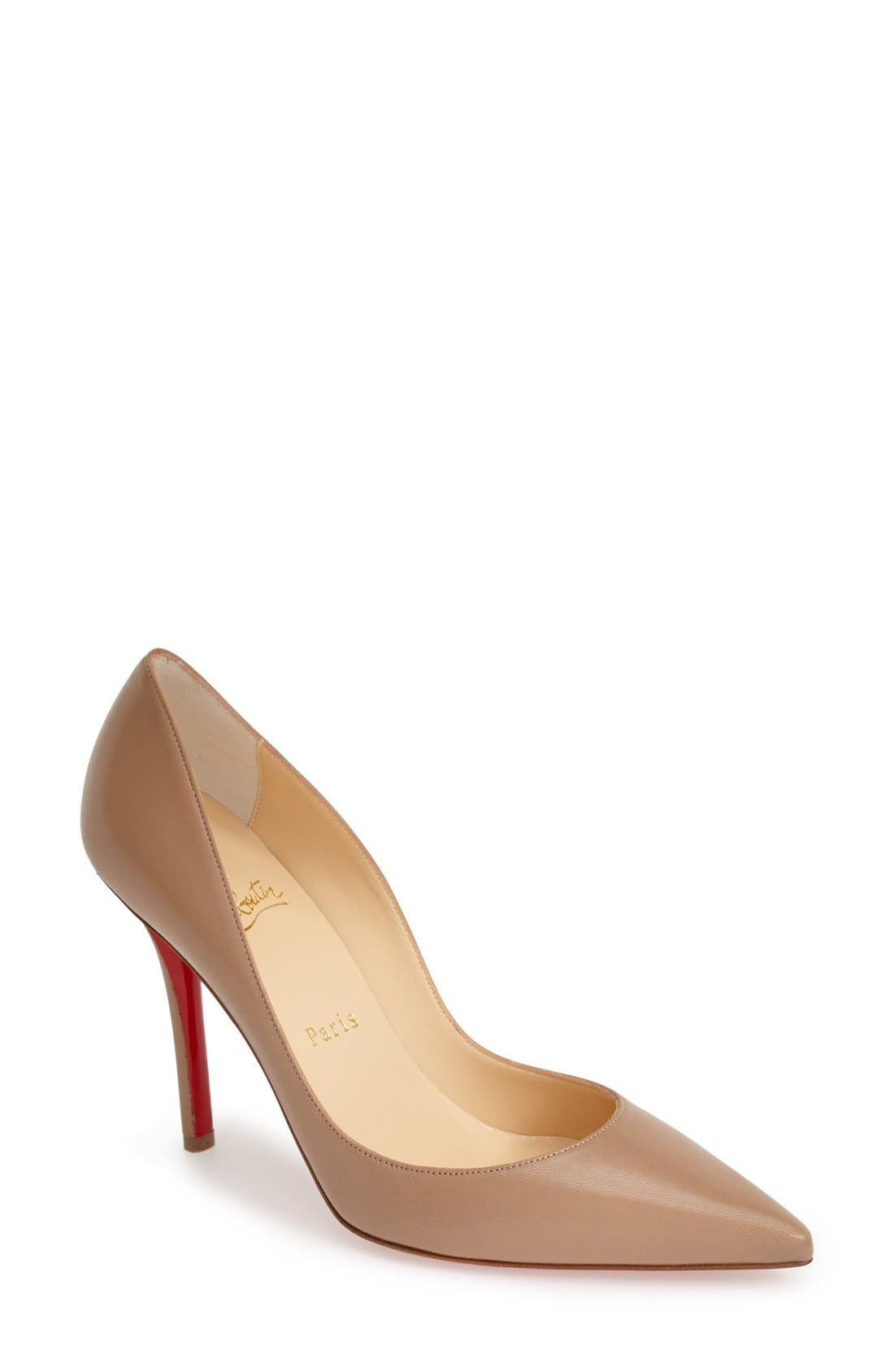 'Apostrophy' Pointy Toe Pump,                             Main thumbnail 4, color,