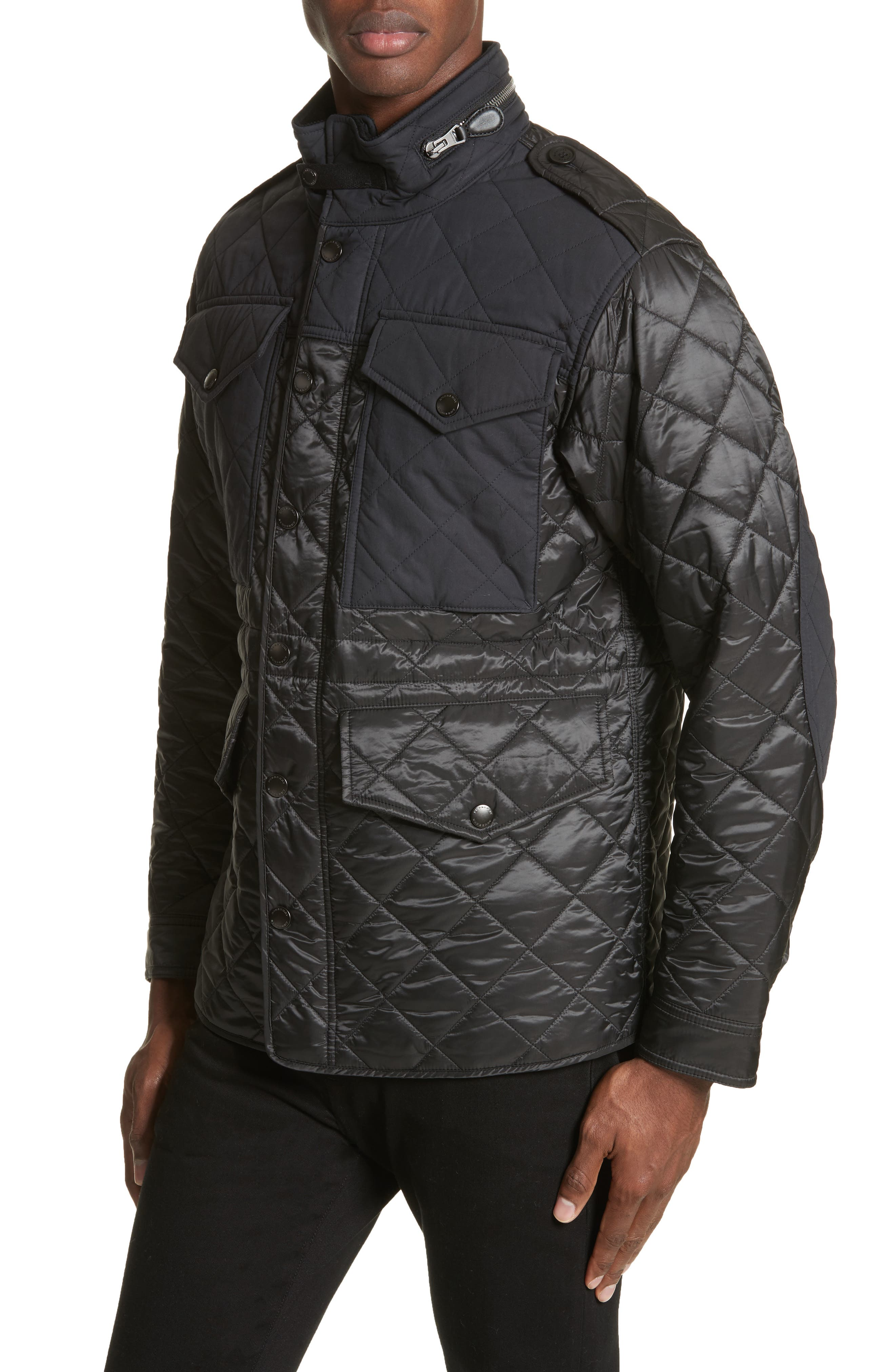 Quilted Jacket,                             Alternate thumbnail 4, color,                             001