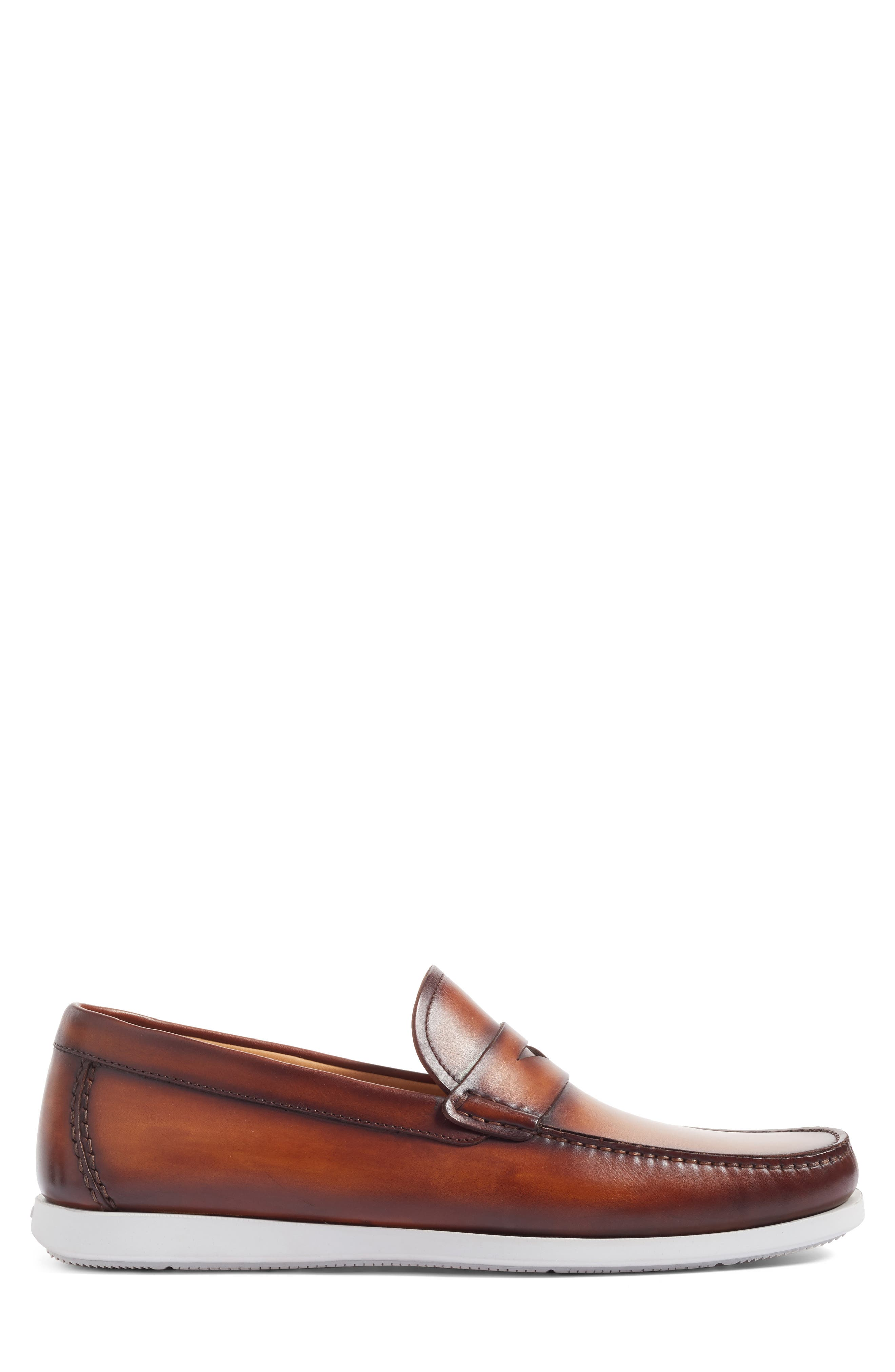 Laguna Penny Loafer,                             Alternate thumbnail 3, color,                             MID-BROWN LEATHER