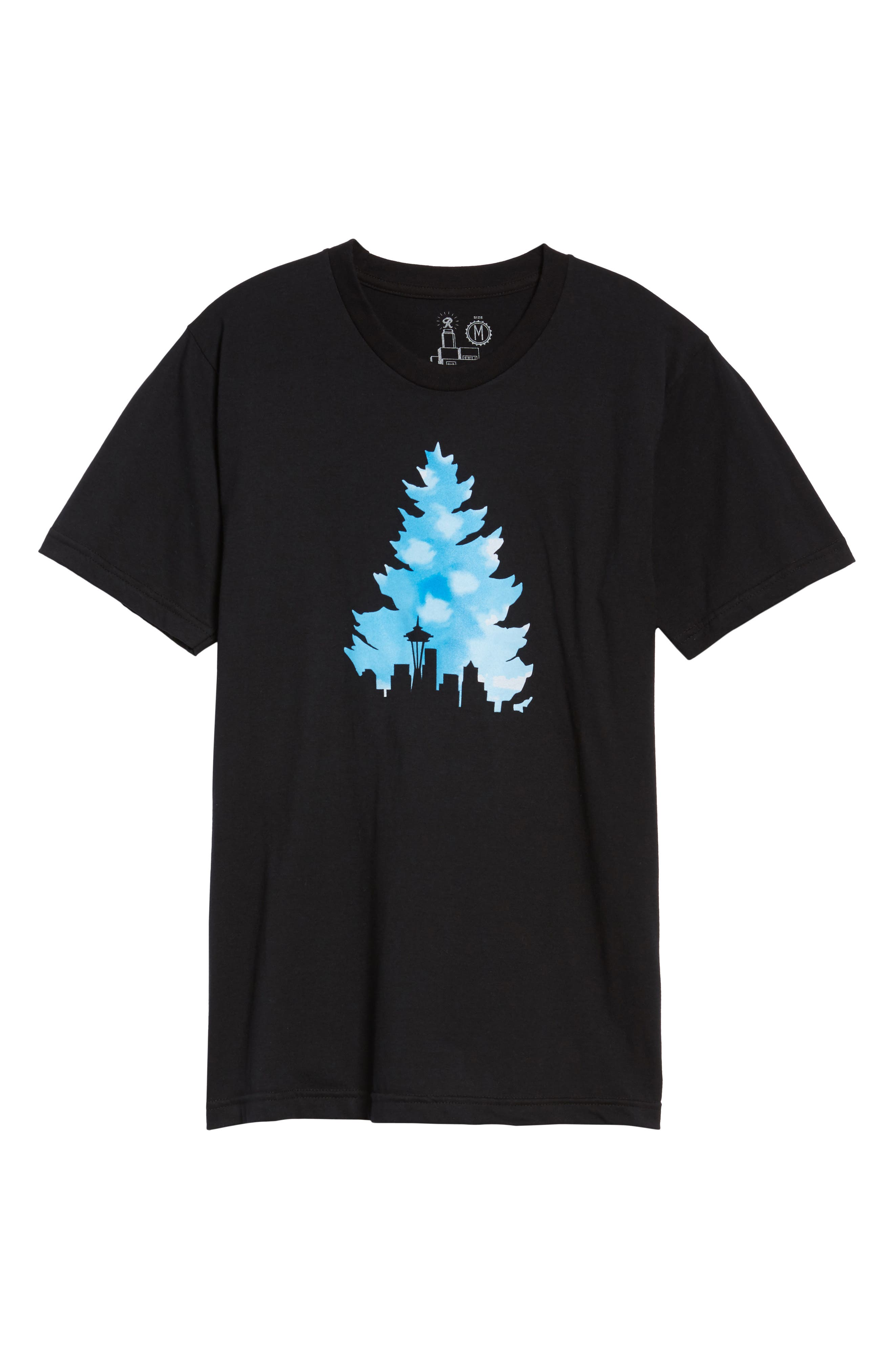 Johnny Tree Clouds T-Shirt,                             Alternate thumbnail 6, color,                             001