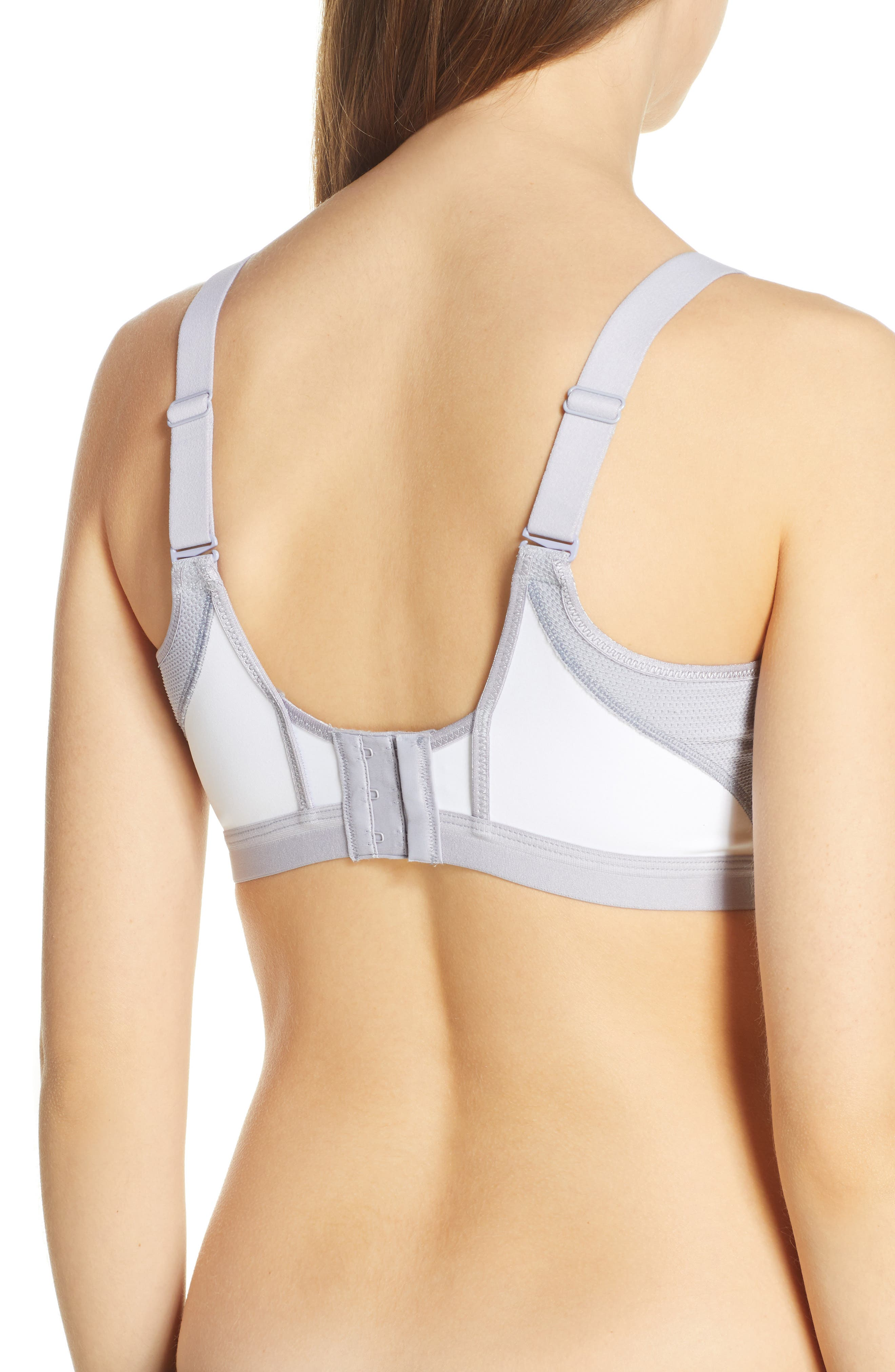 WACOAL,                             High Impact Underwire Sports Bra,                             Alternate thumbnail 2, color,                             WHITE/ LILAC GRAY