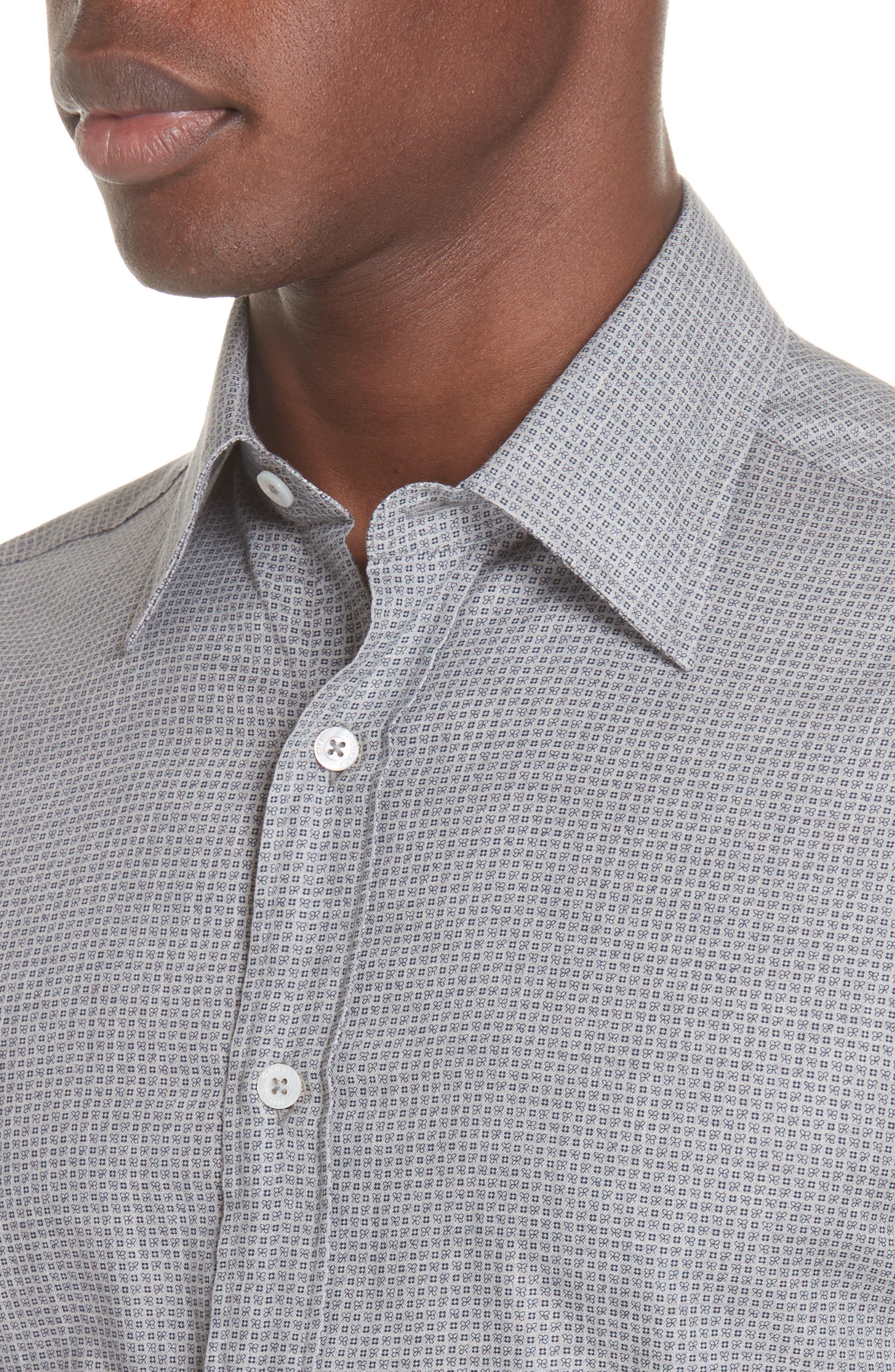 Classic Fit Geometric Dress Shirt,                             Alternate thumbnail 2, color,                             020