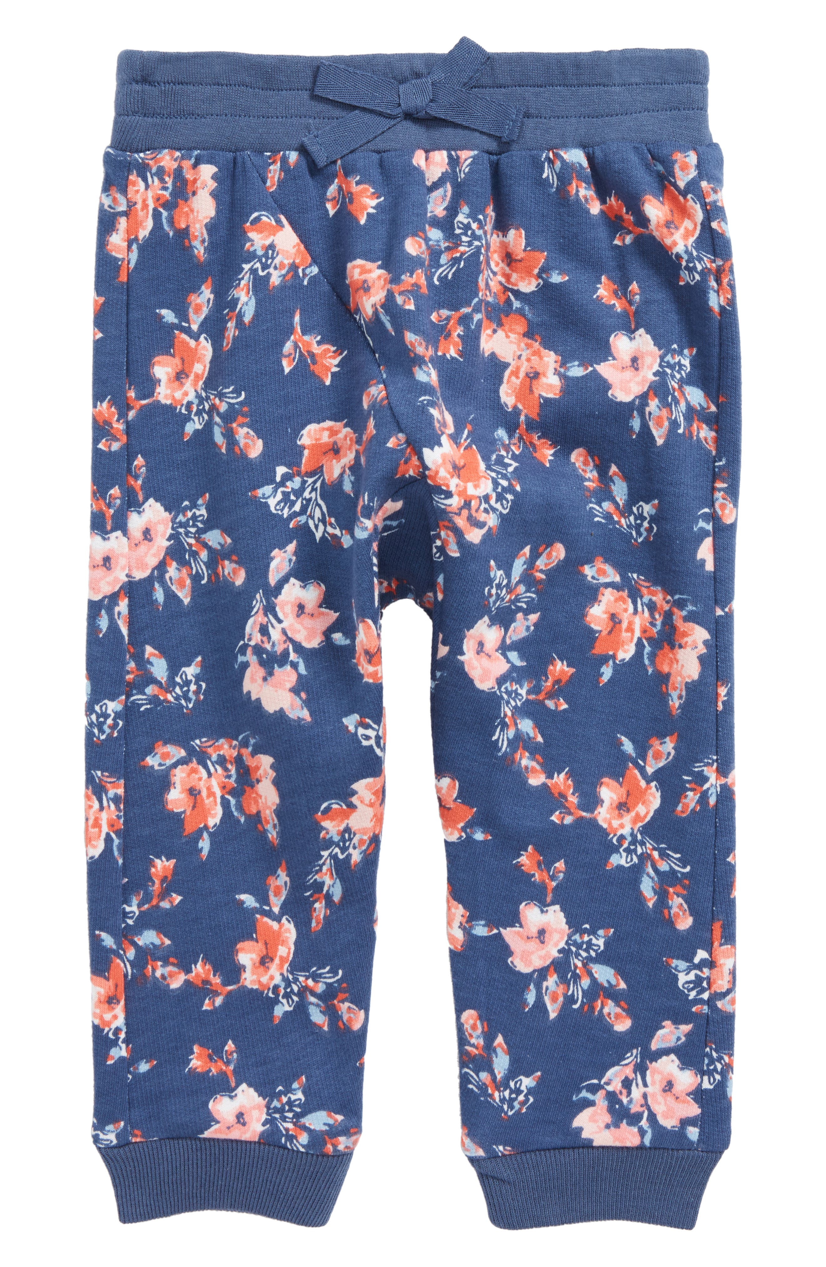 Floral French Terry Leggings,                         Main,                         color, 430