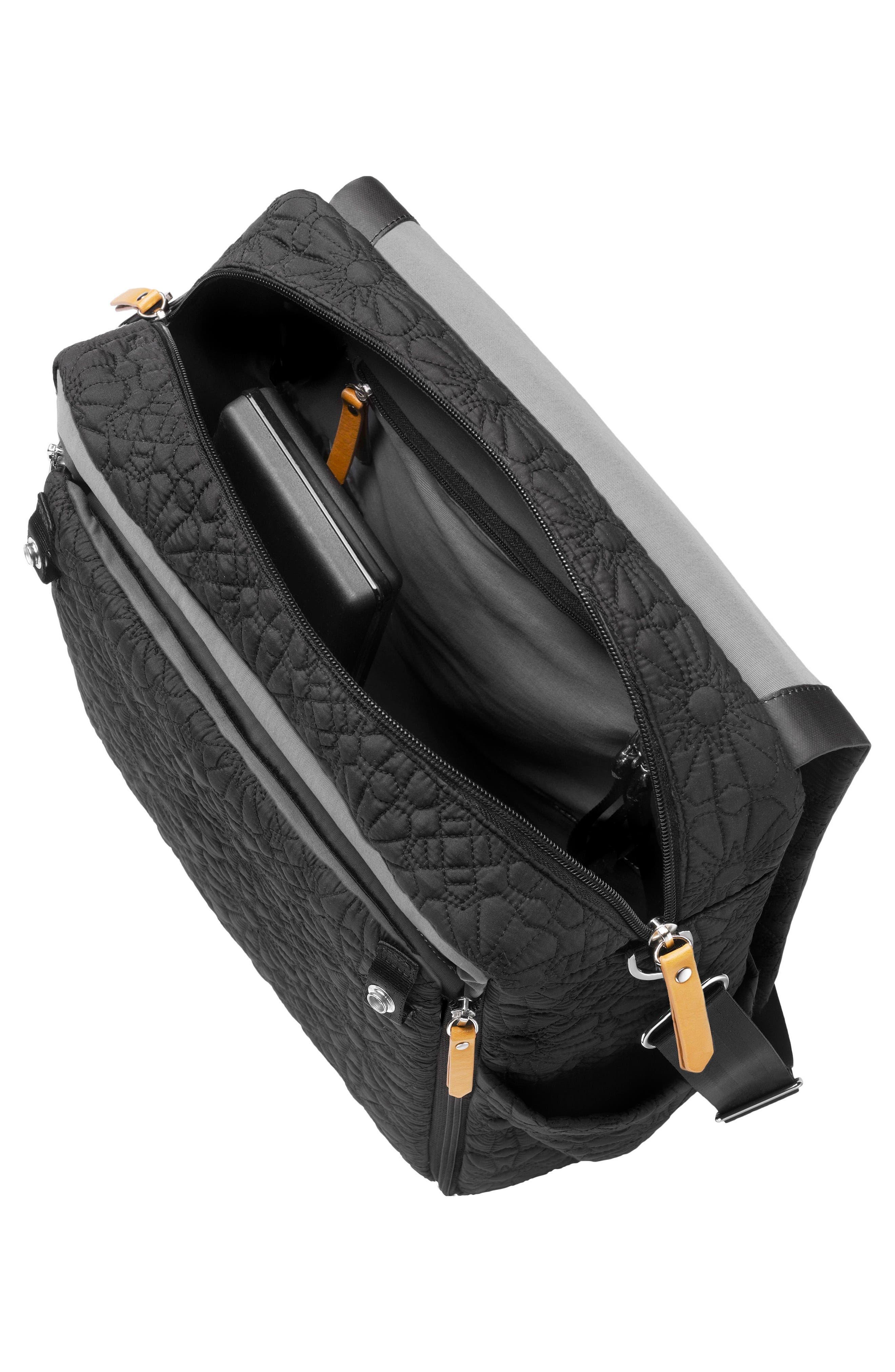 'Embossed Boxy' Backpack Diaper Bag,                             Alternate thumbnail 4, color,                             002