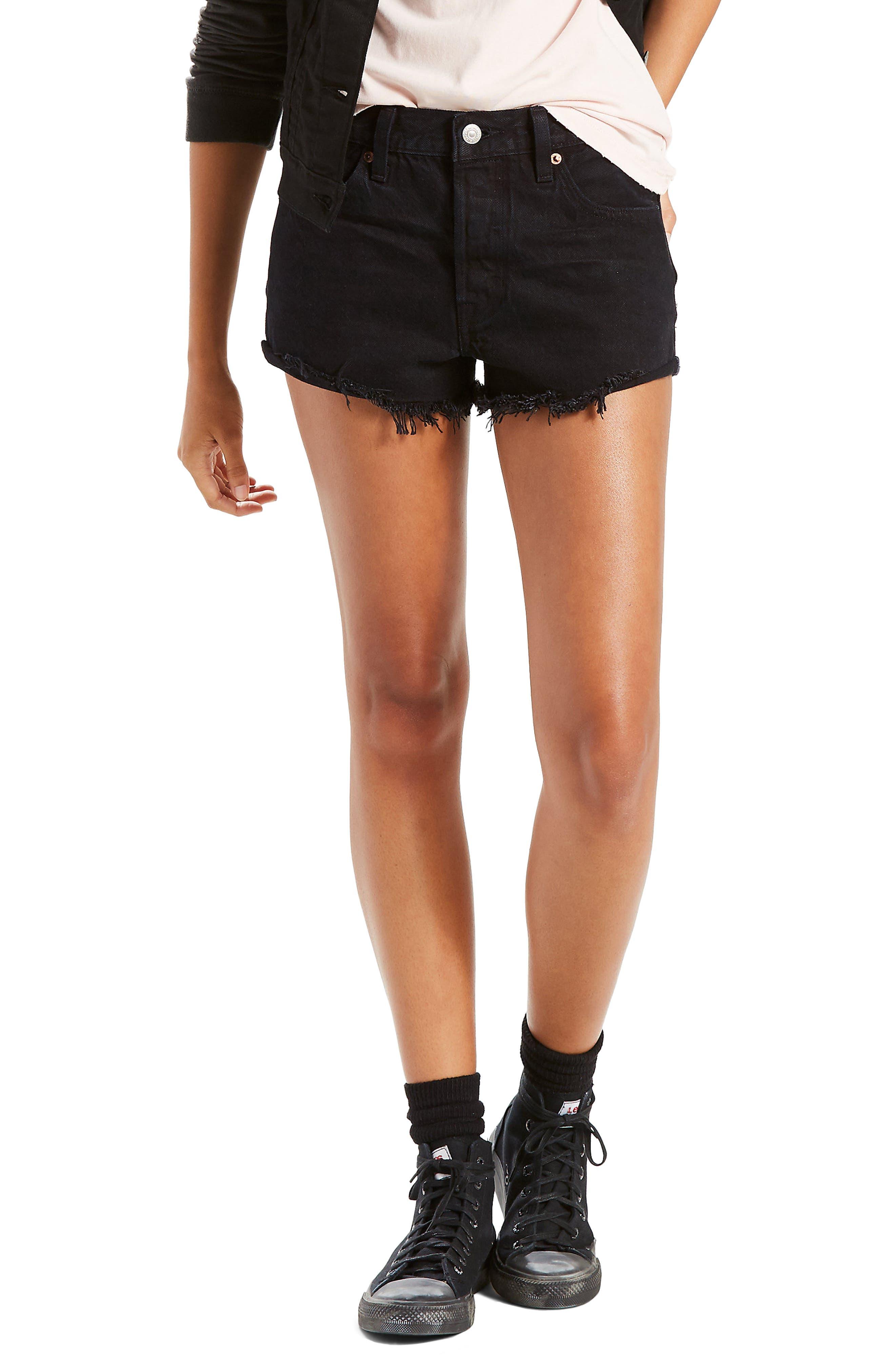 501<sup>®</sup> Cutoff Denim Shorts,                             Main thumbnail 1, color,