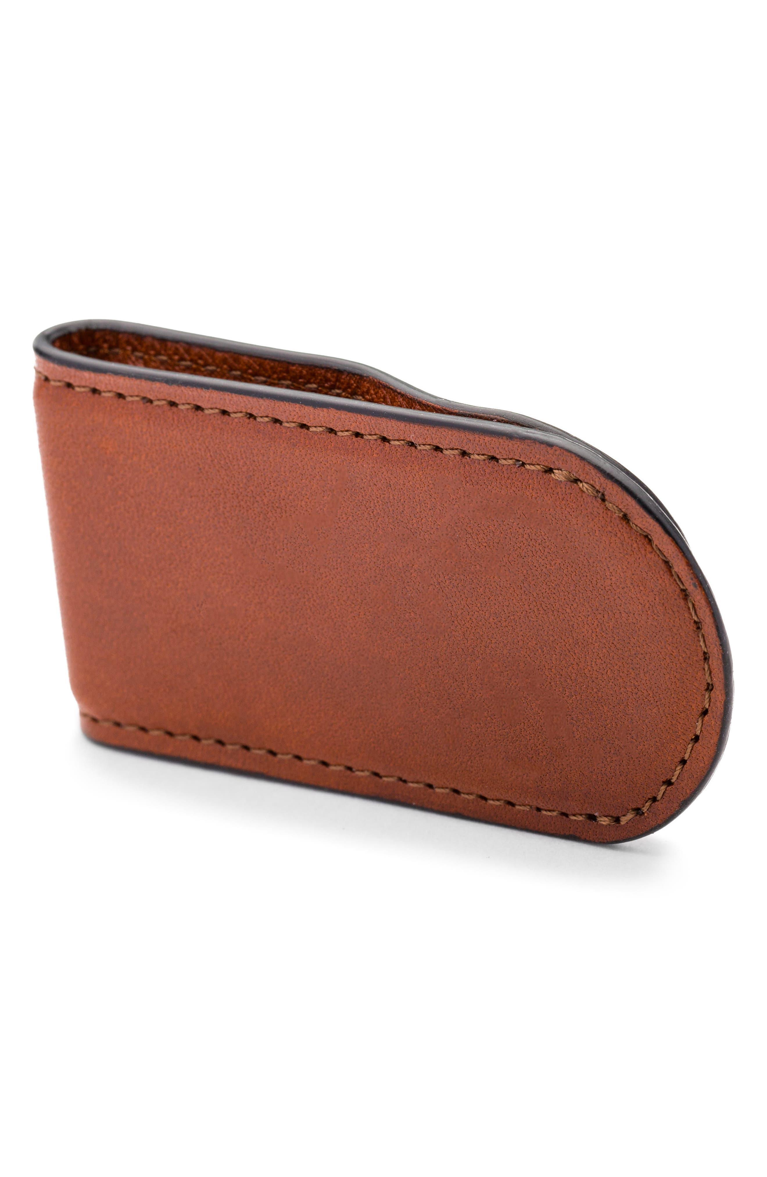 Leather Money Clip,                             Alternate thumbnail 2, color,                             233