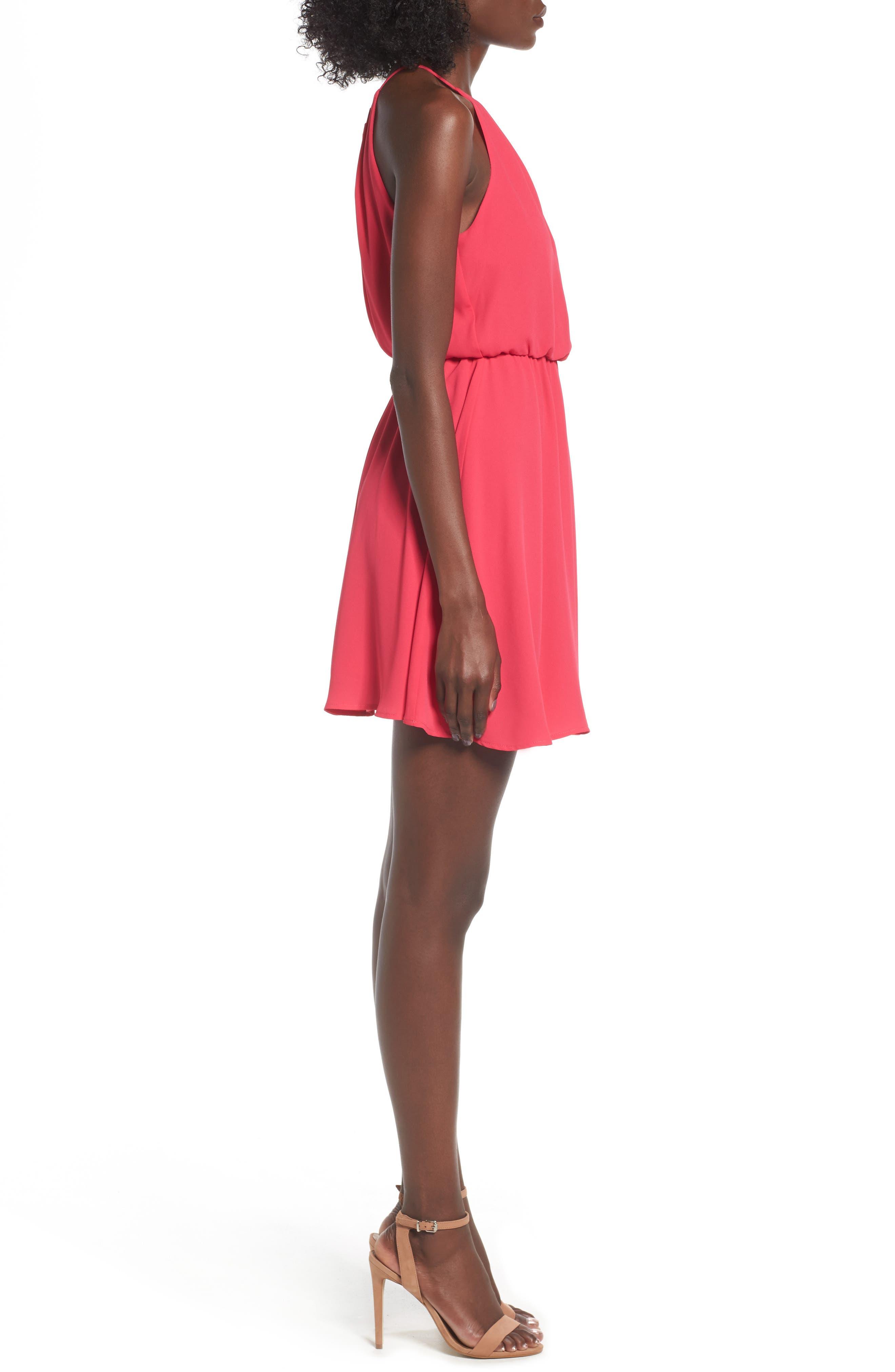 Blouson Chiffon Skater Dress,                             Alternate thumbnail 152, color,