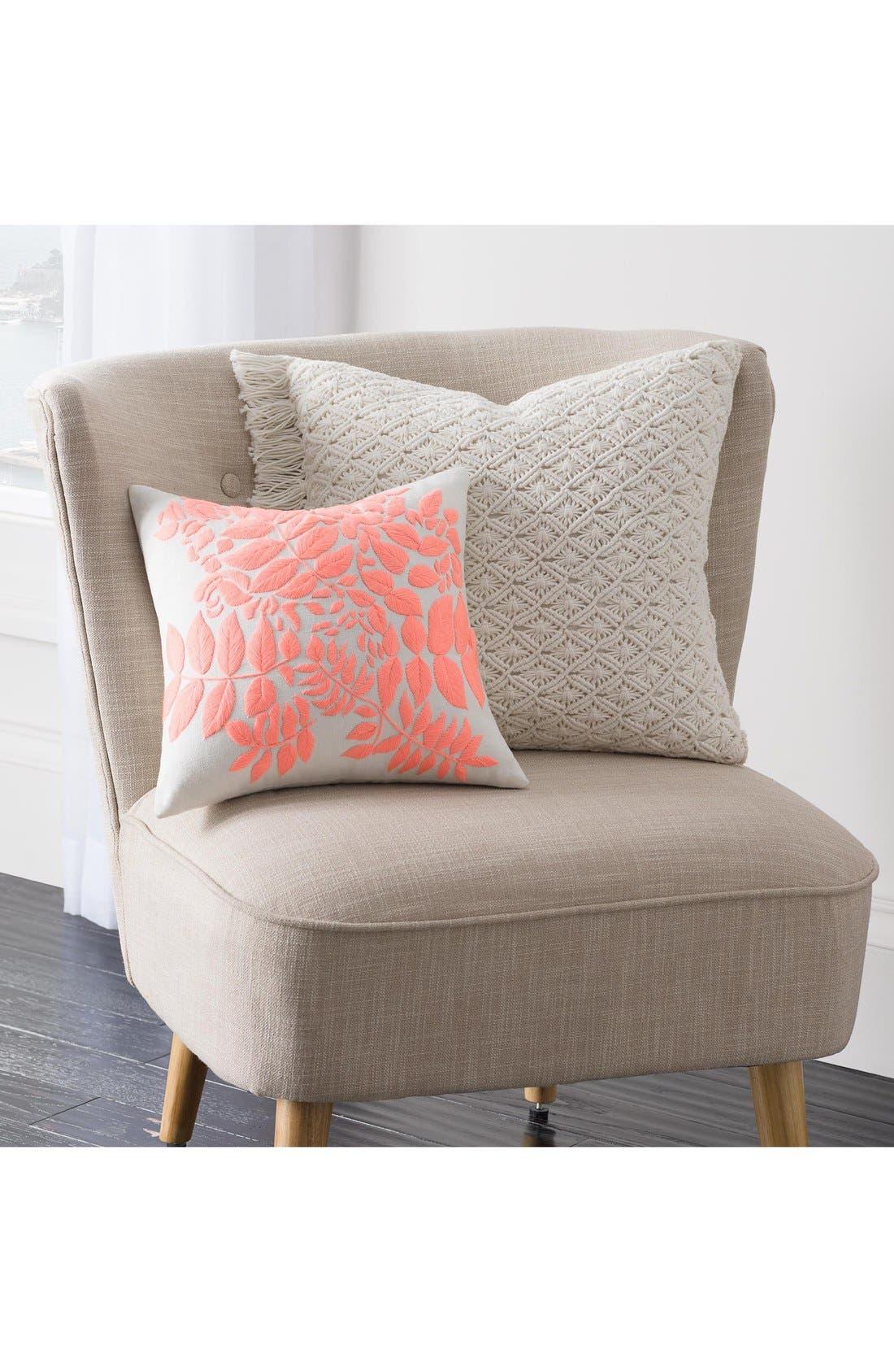 'Lace Medallion' Crochet Pillow,                             Alternate thumbnail 3, color,