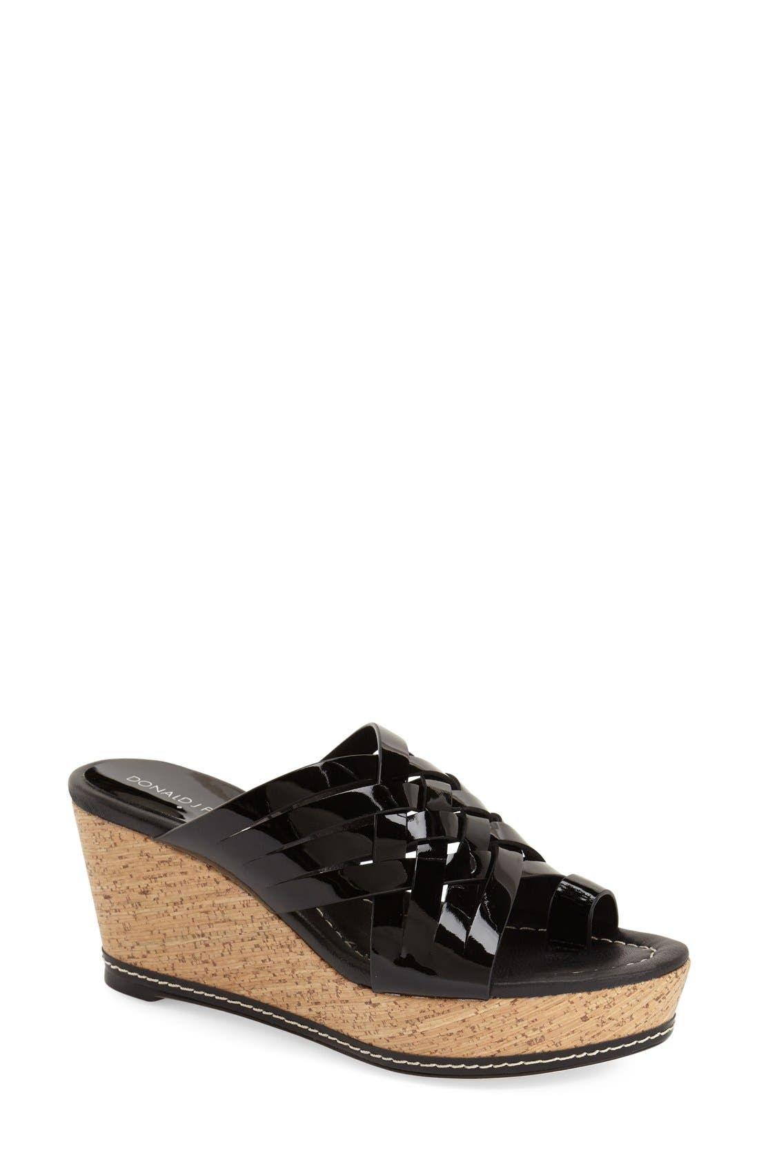 DONALD PLINER Donald J Pliner 'Flore' Wedge Sandal, Main, color, 001