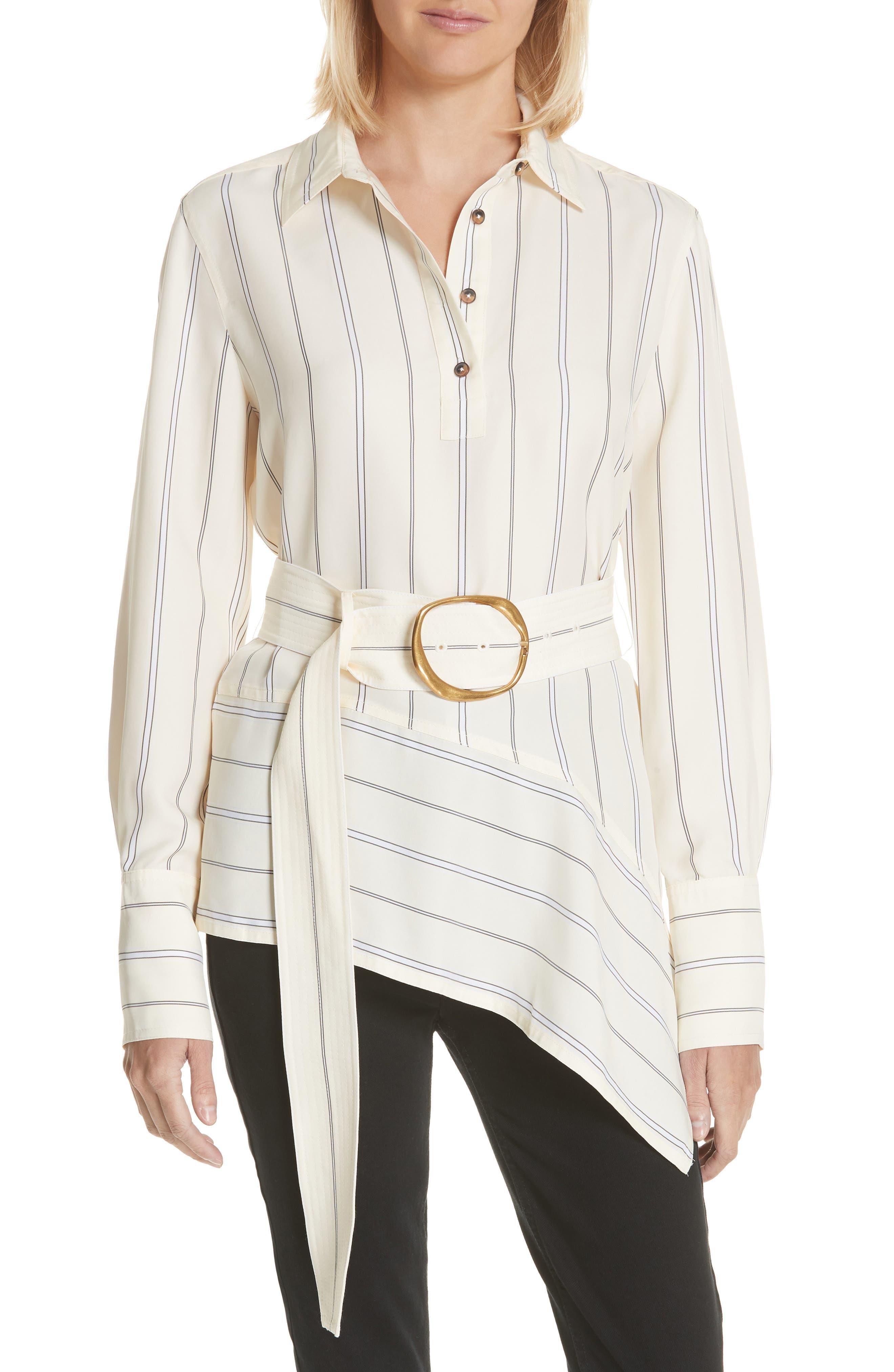 Asymmetrical Stripe Shirt,                             Main thumbnail 1, color,