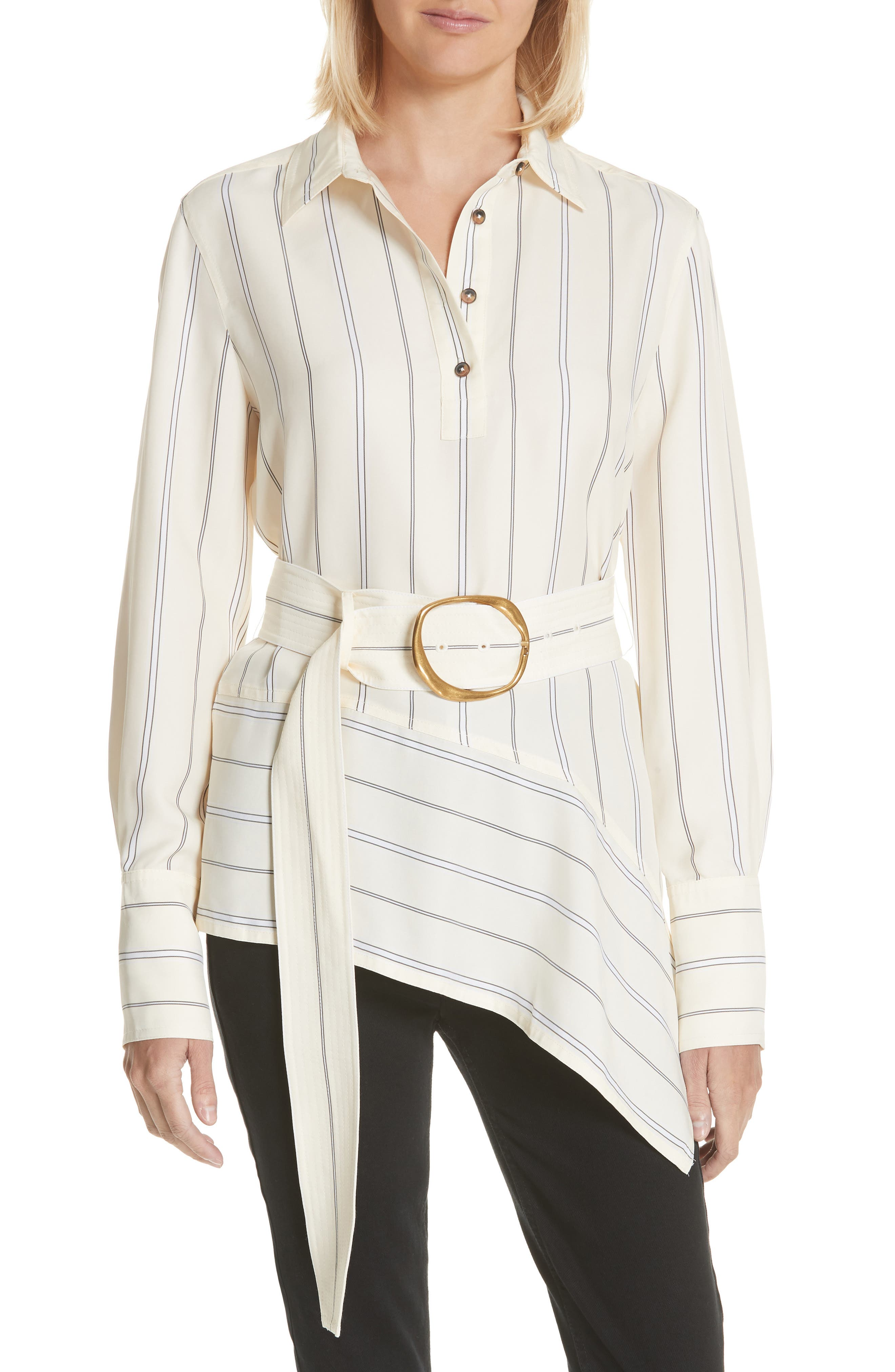 Asymmetrical Stripe Shirt,                         Main,                         color,
