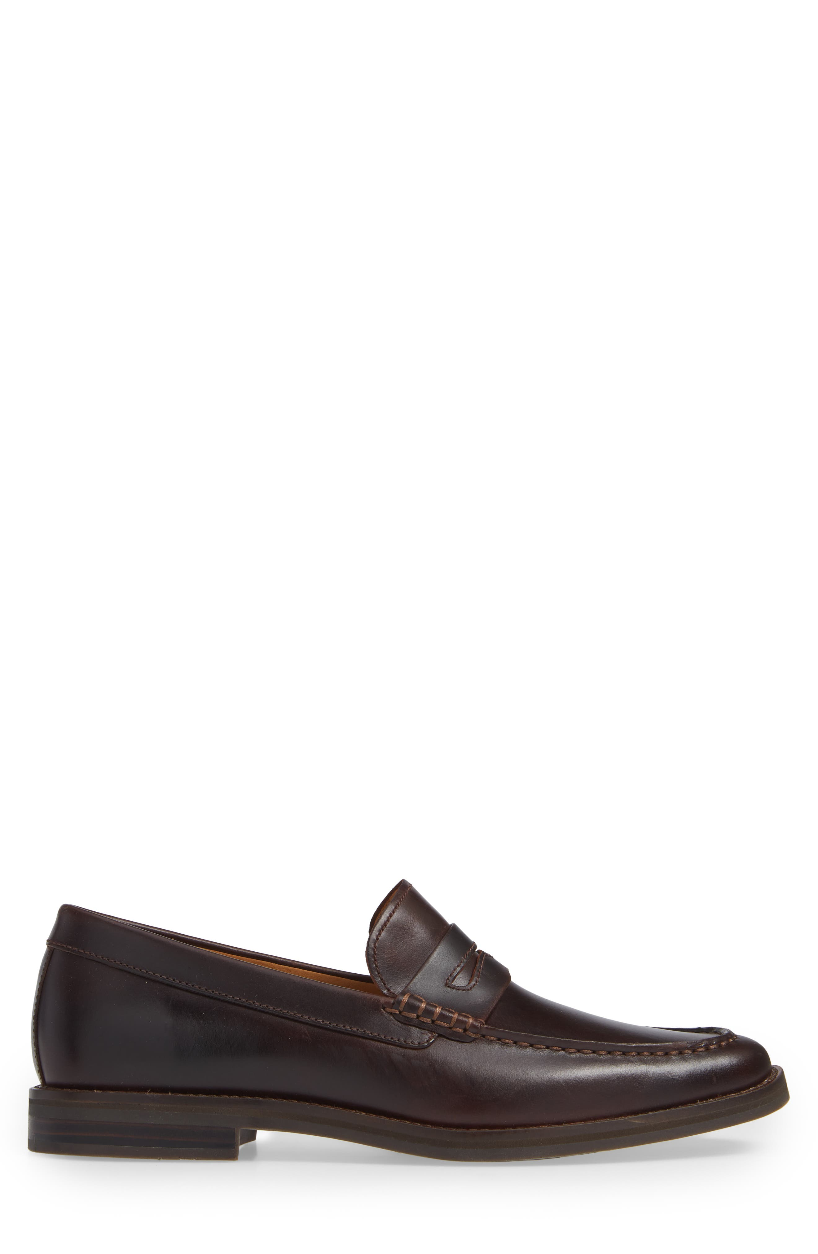Gold Cup Exeter Penny Loafer,                             Alternate thumbnail 3, color,                             AMARETTO