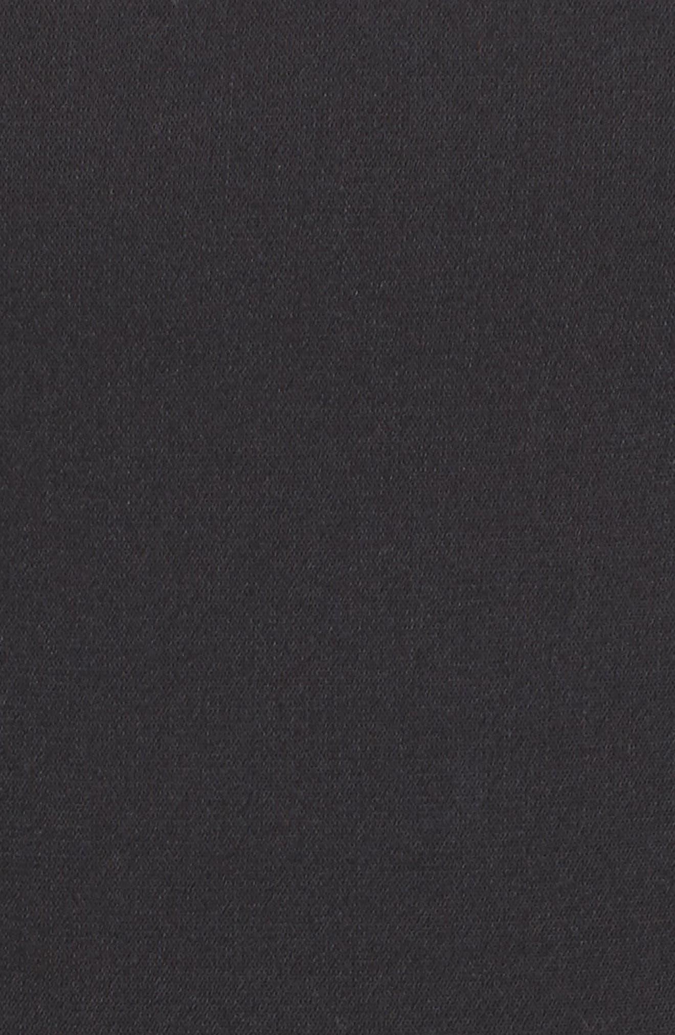 Whisper Light Fit & Flare Dress,                             Alternate thumbnail 7, color,                             BLACK