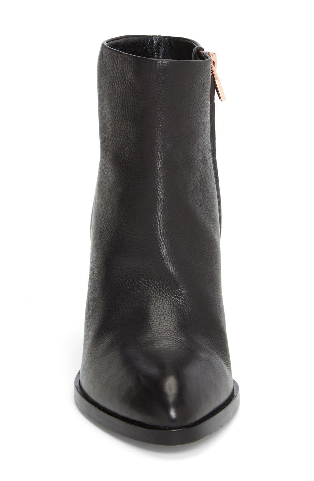 Gabi Bootie,                             Alternate thumbnail 2, color,                             BLACK LEATHER