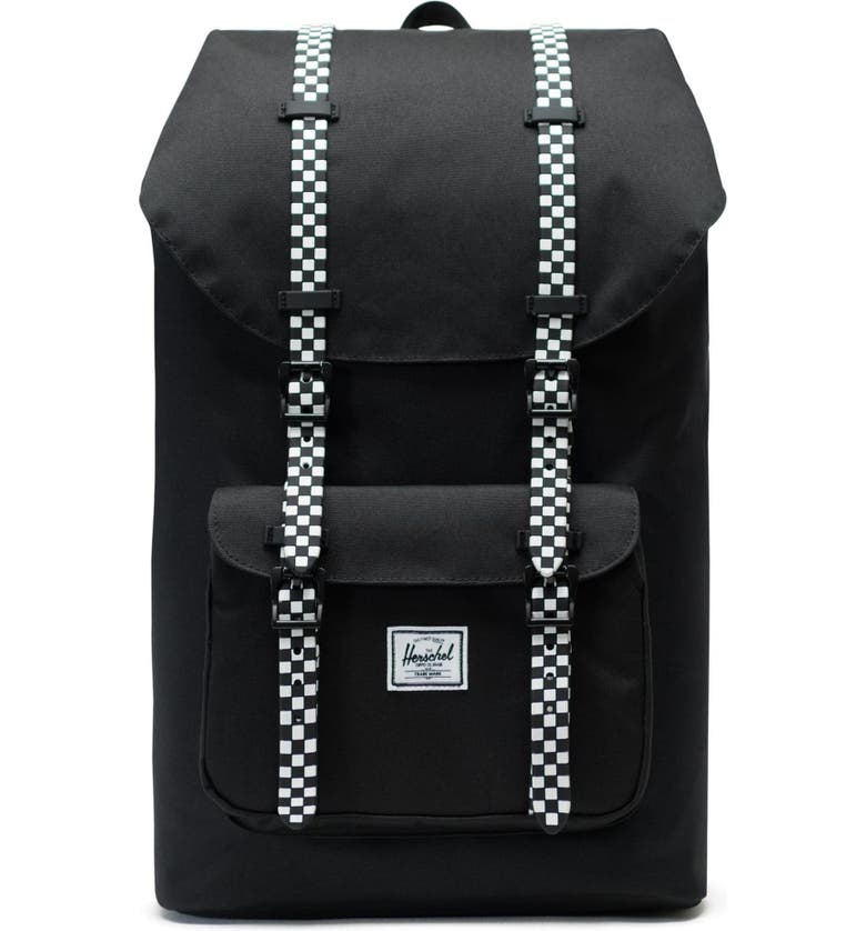 HERSCHEL SUPPLY CO. Little America Backpack, Main, color, BLACK/ CHECKERBOARD